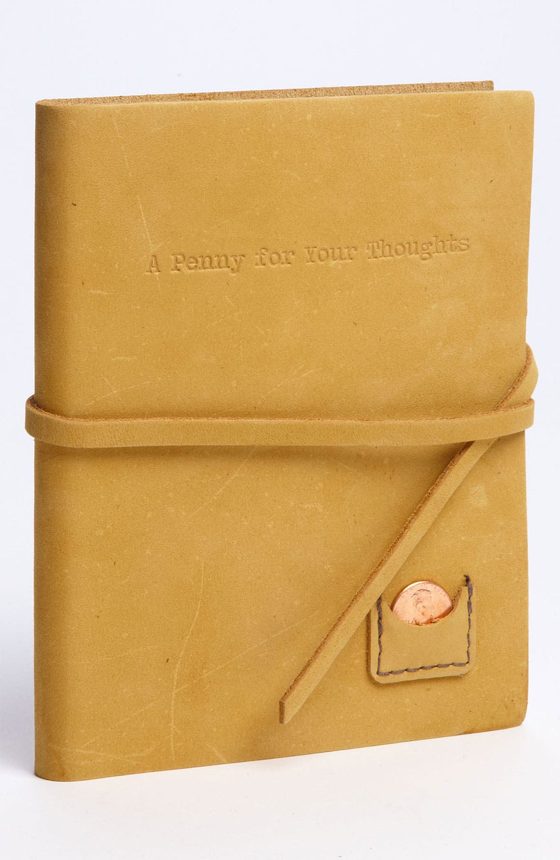 Main Image - Studio Penny Lane 'A Penny for Your Thoughts' Leather Journal