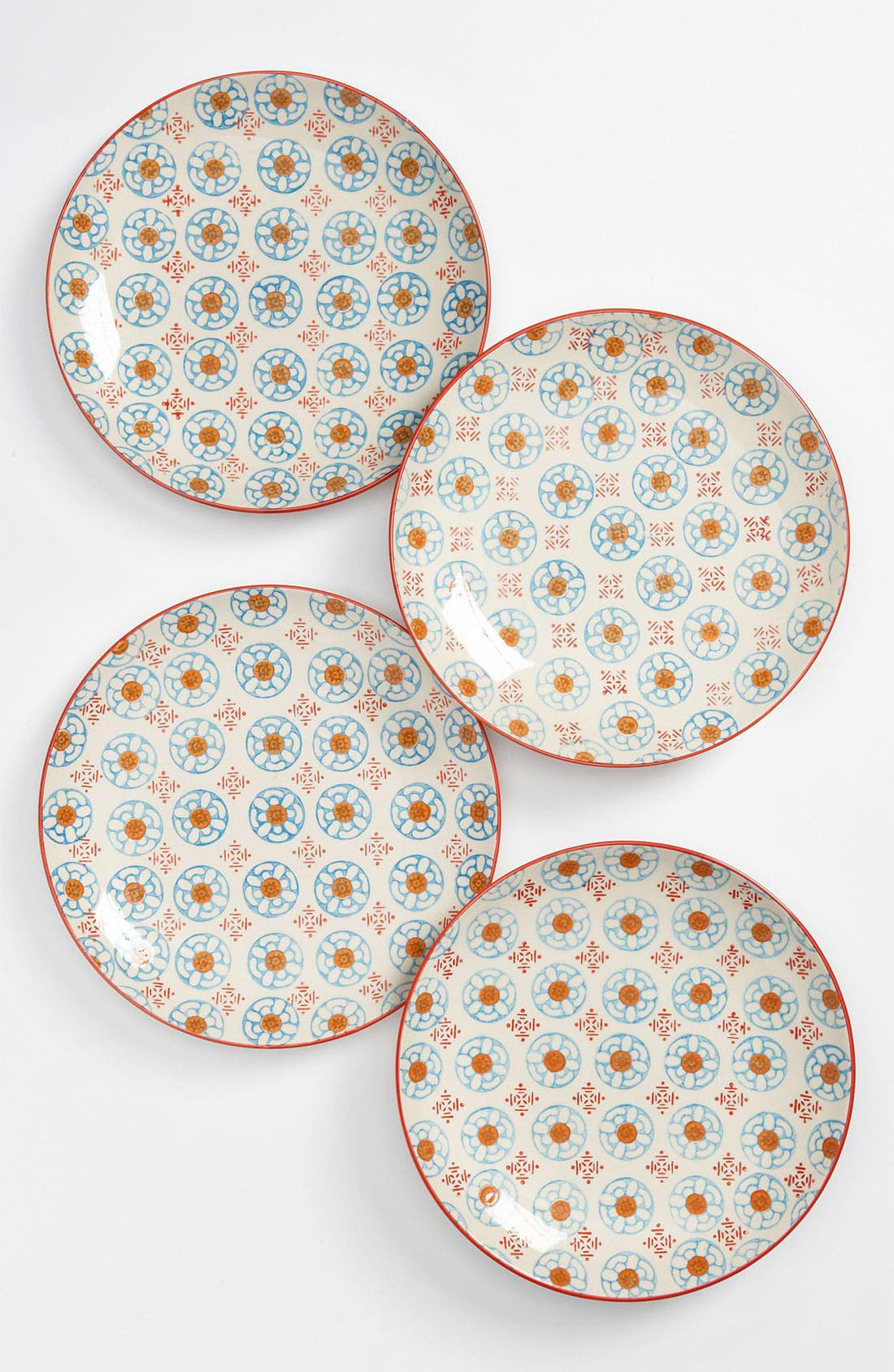 Alternate Image 1 Selected - Hand Painted Plates (Set of 4)