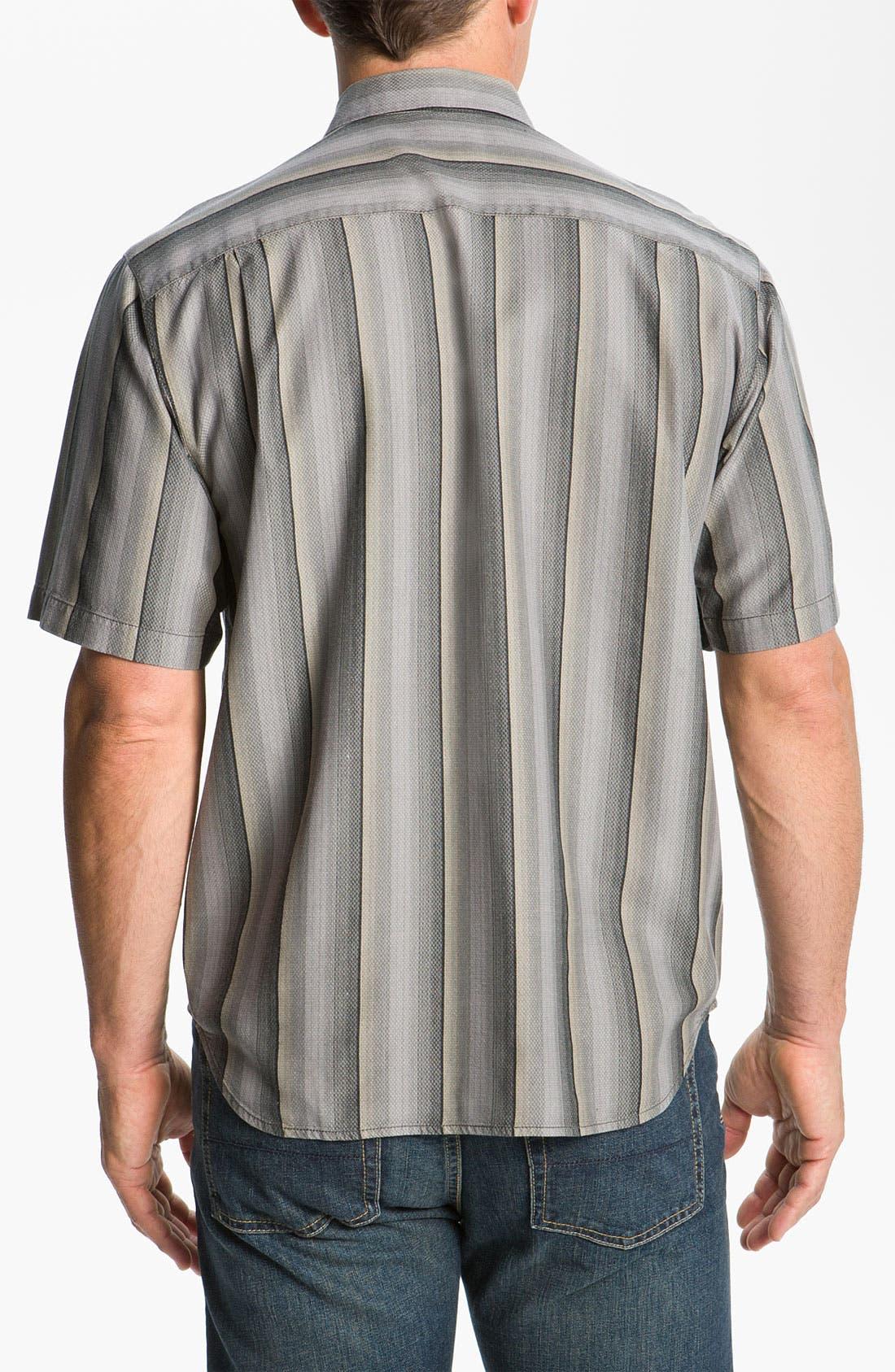 Alternate Image 2  - Tommy Bahama 'Sampan Stripe' Silk Sport Shirt