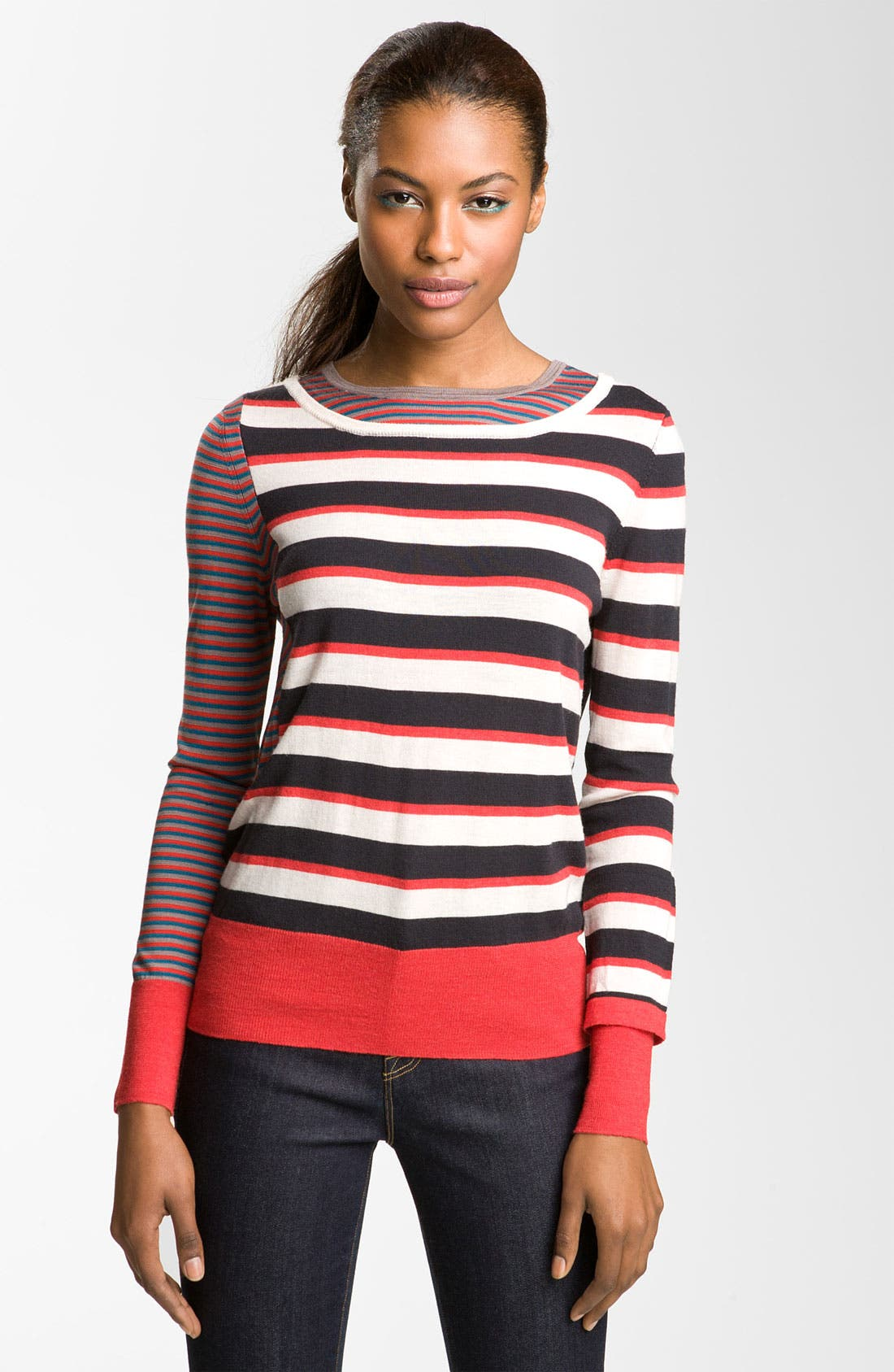 Alternate Image 1 Selected - MARC BY MARC JACOBS 'Yaani' Stripe Sweater