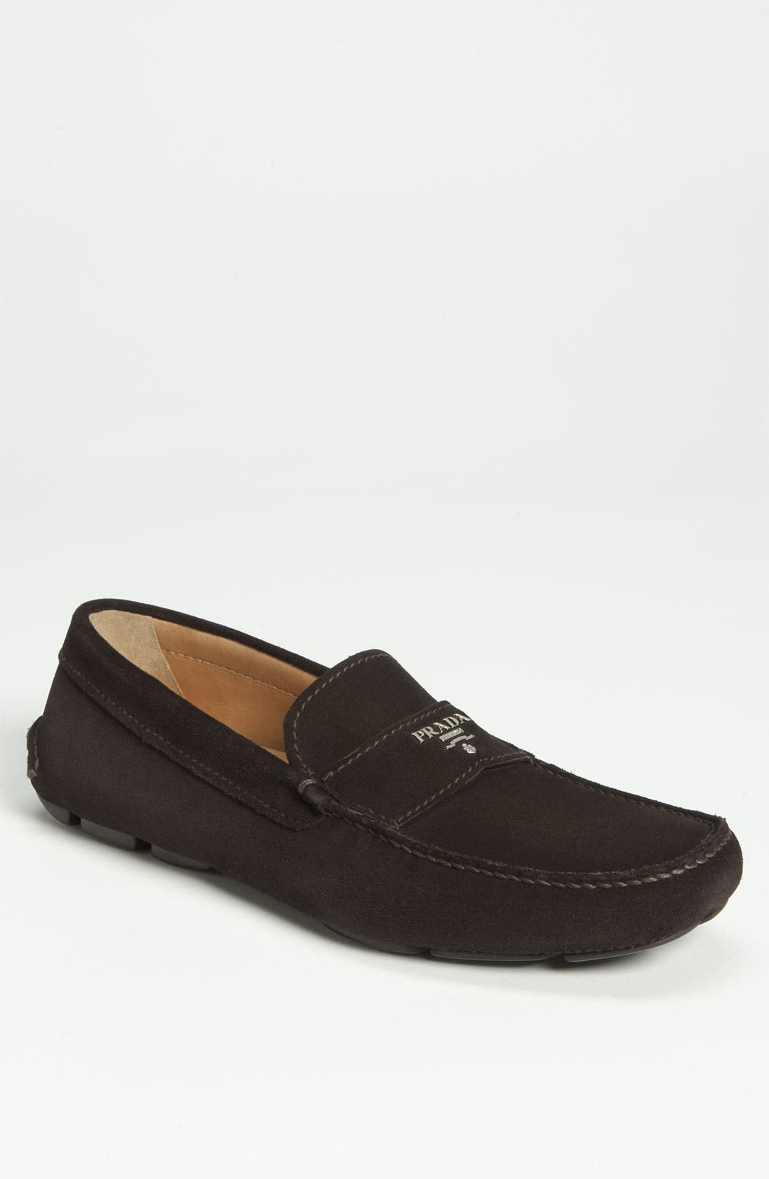 Alternate Image 1 Selected - Prada Suede Driving Shoe