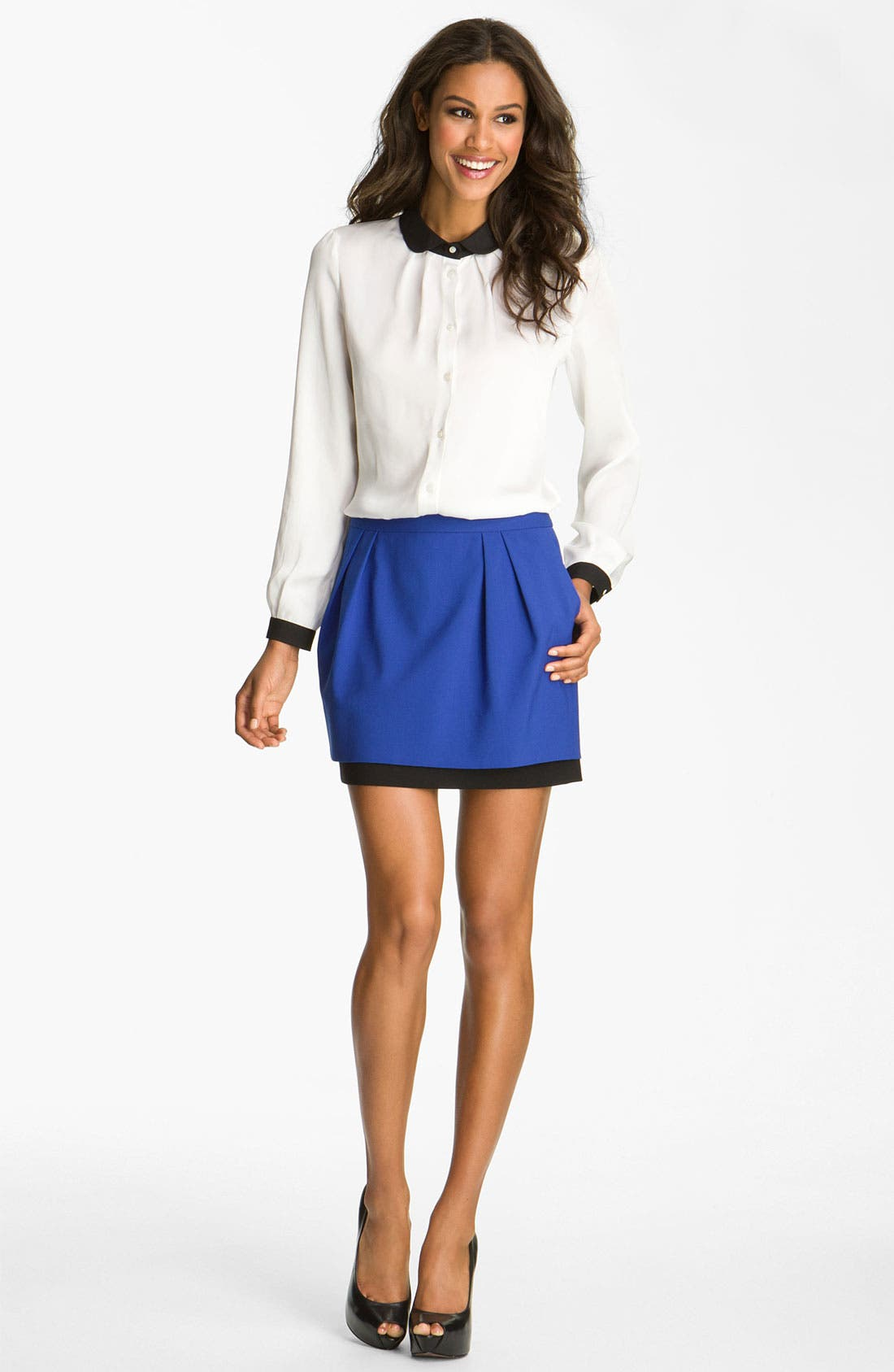 Alternate Image 3  - Vince Camuto Double Layer Skirt