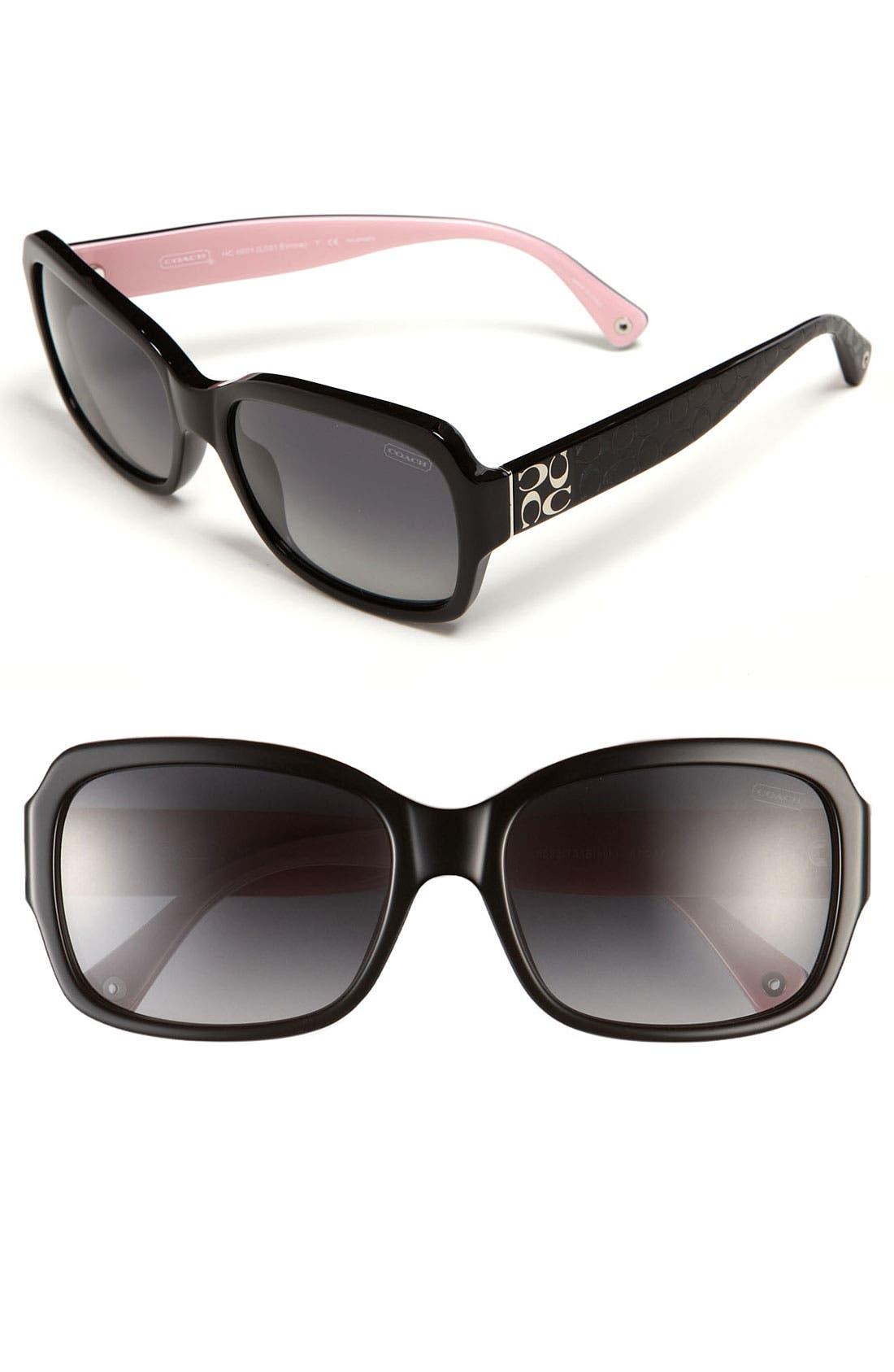 Main Image - COACH Polarized Sunglasses