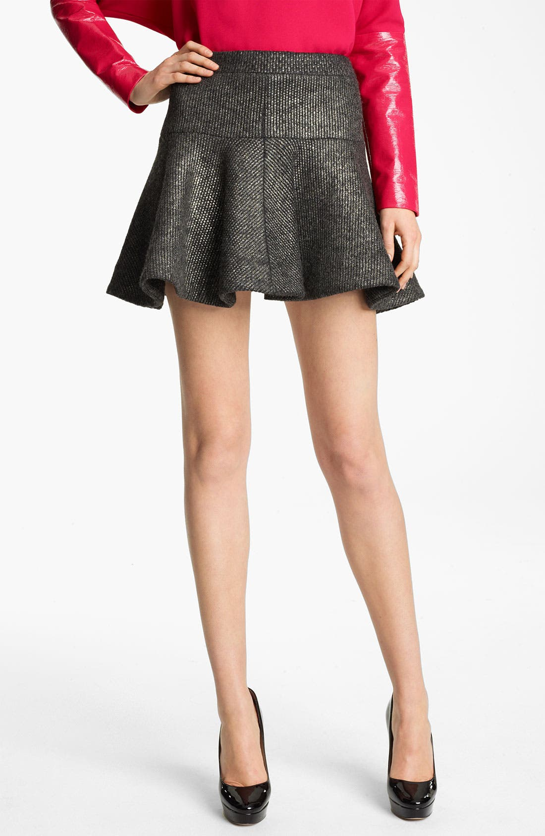 Main Image - Thakoon Foiled Knit Skirt
