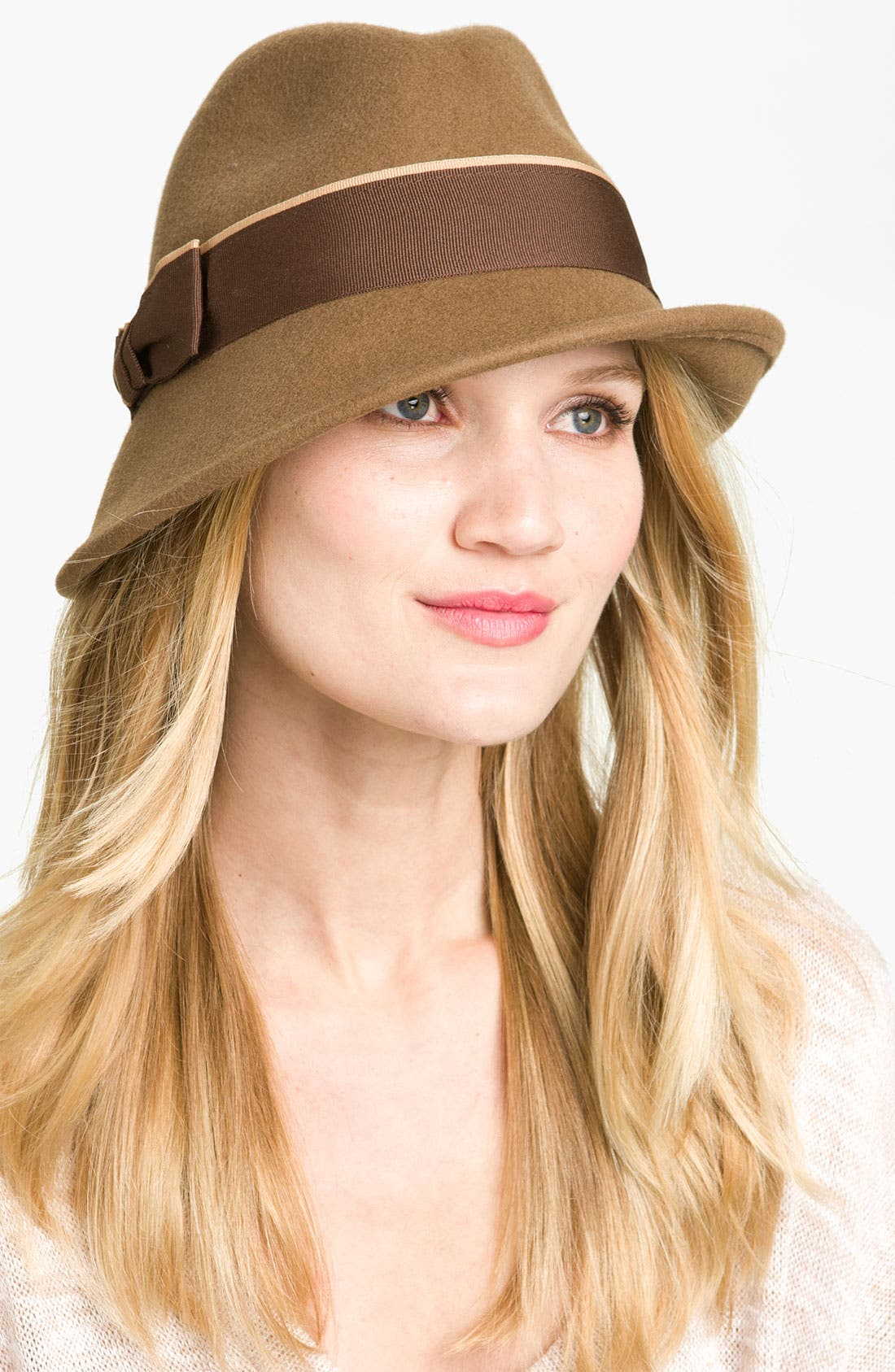 Alternate Image 1 Selected - Tarnish 'Ribbon Bow' Wool Fedora