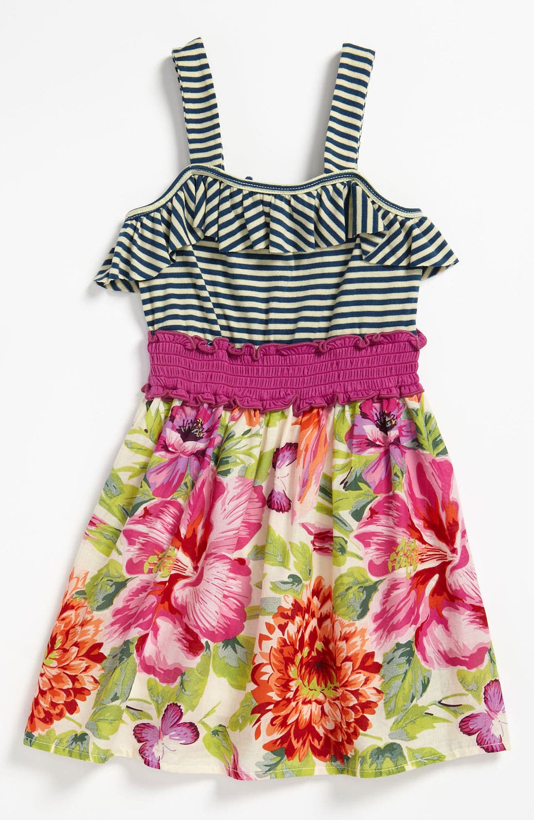 Alternate Image 1 Selected - Truly Me Stripe Dress (Little Girls)