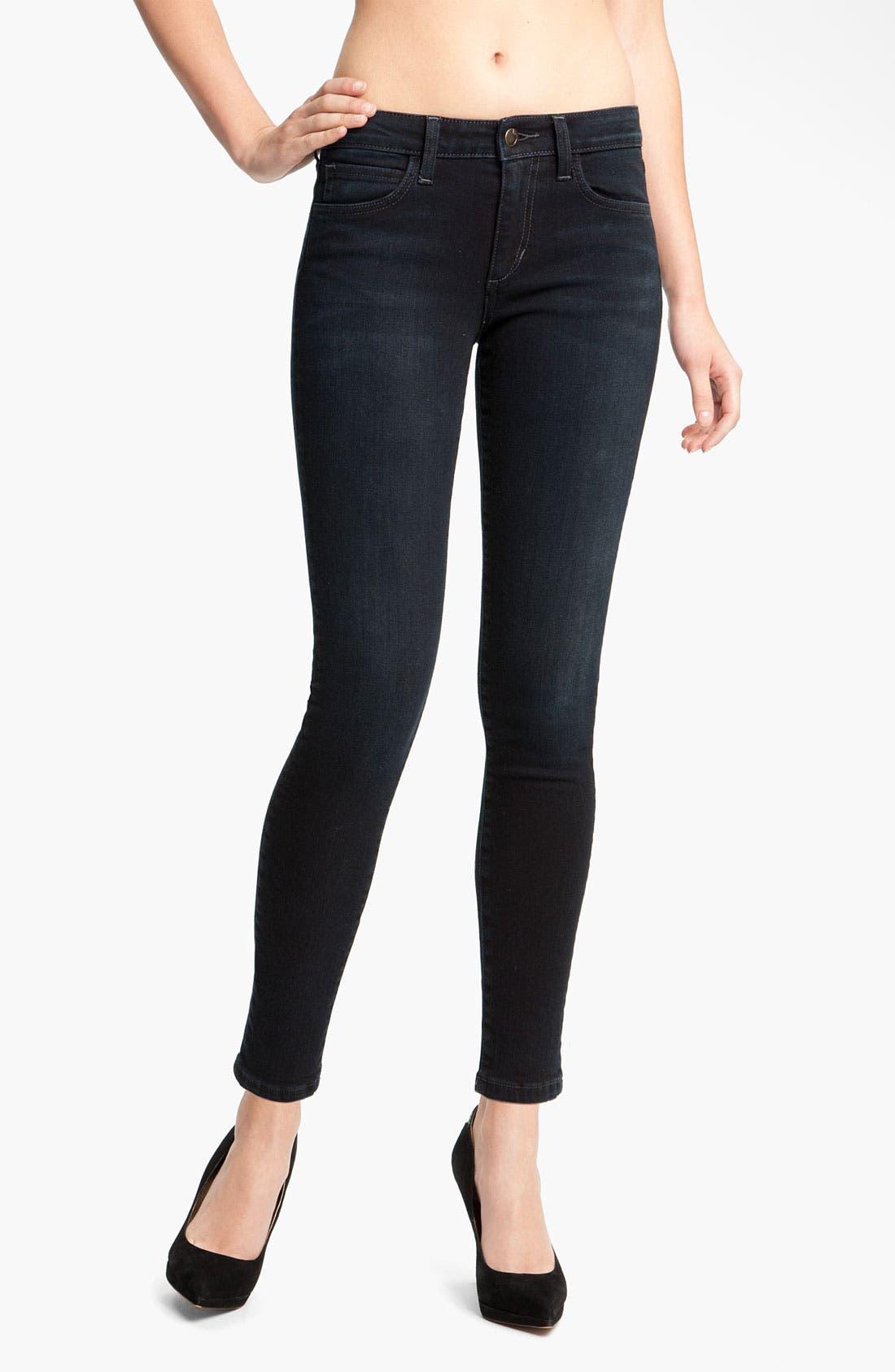Skinny Stretch Ankle Jeans,                         Main,                         color, Tabitha Blue/ Black