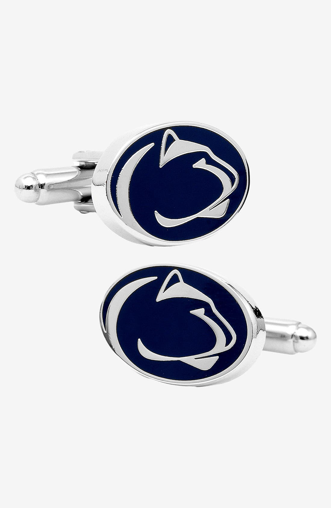 'Penn State University Nittany Lions' Cuff Links,                         Main,                         color, Navy/ White