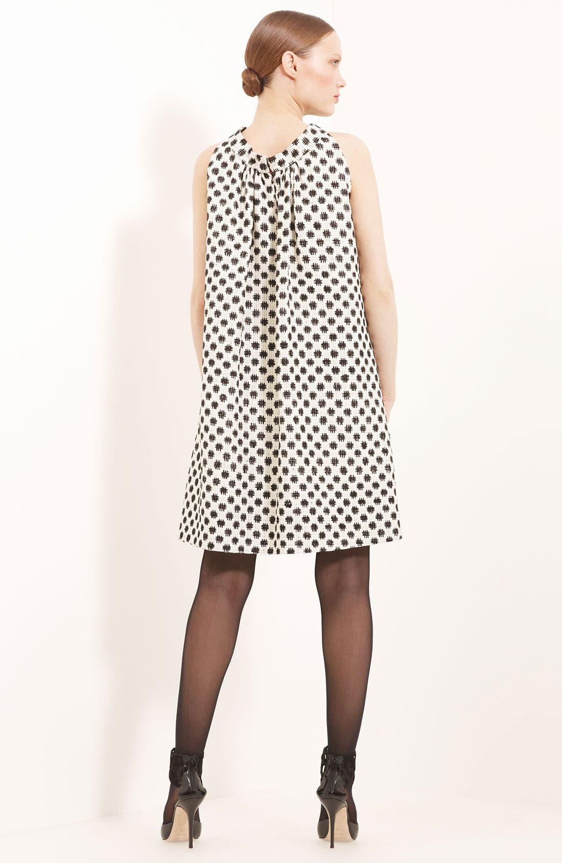 Alternate Image 2  - Oscar de la Renta Trapeze Silk Tweed Dress
