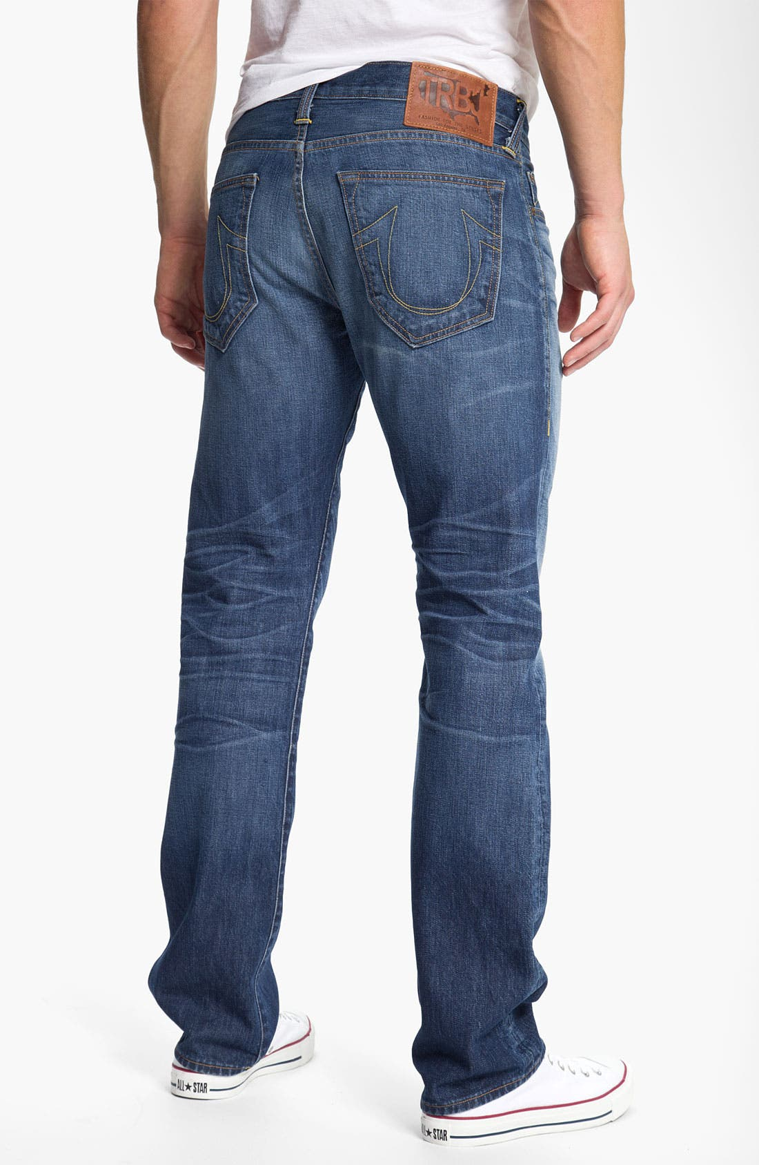 Alternate Image 1 Selected - True Religion Brand Jeans 'Bobby Phoenix' Straight Leg Jeans (Last Stand)