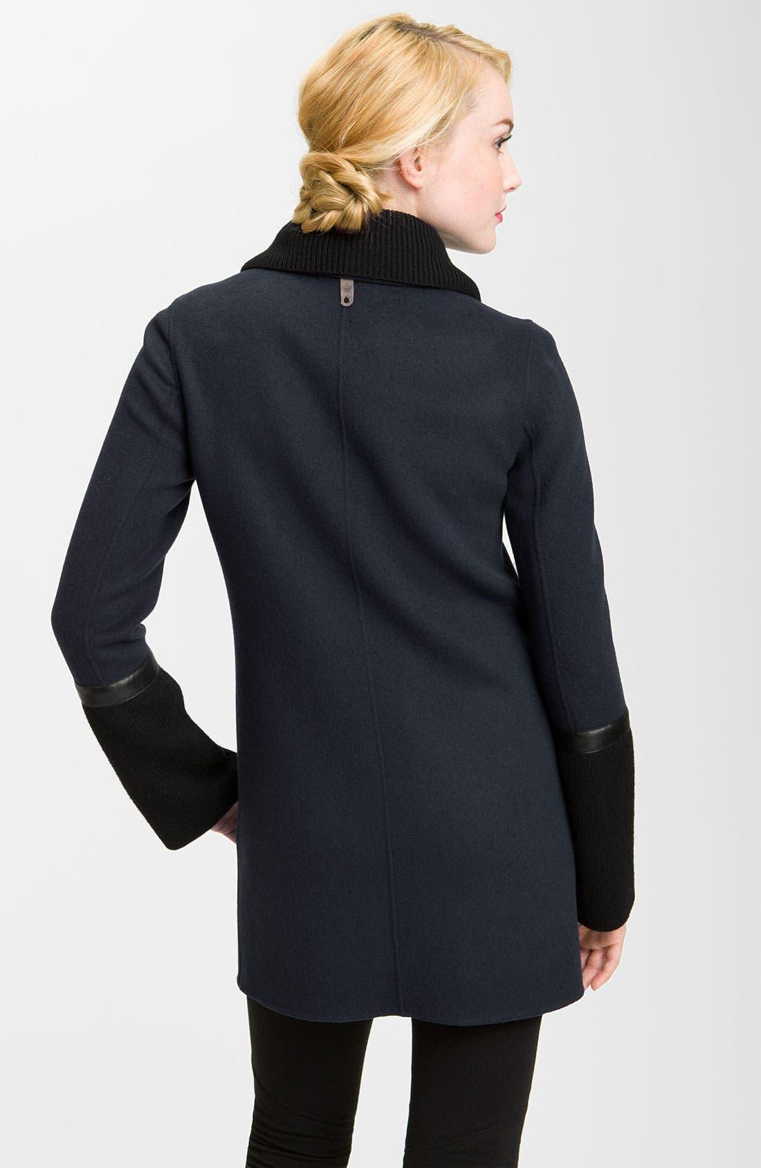 Alternate Image 2  - Mackage Knit & Leather Trim Coat