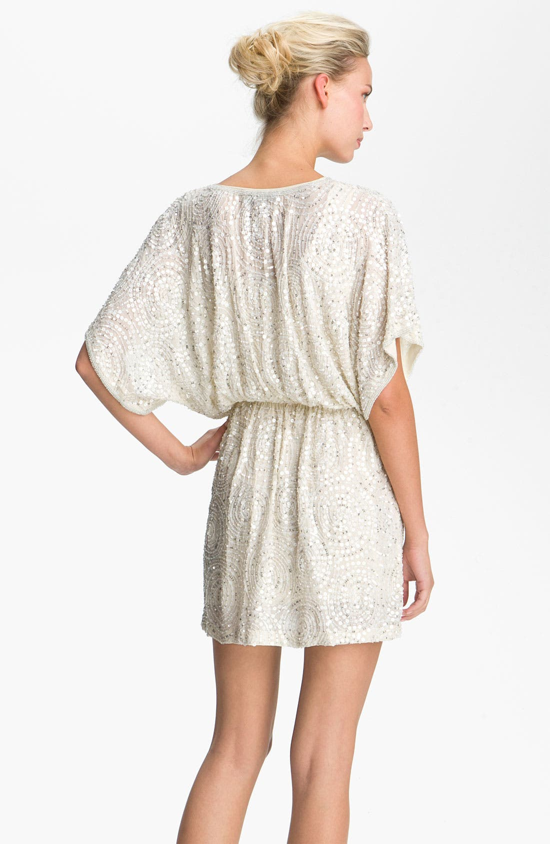 Alternate Image 2  - Alexia Admor Sequined Silk Blouson Dress