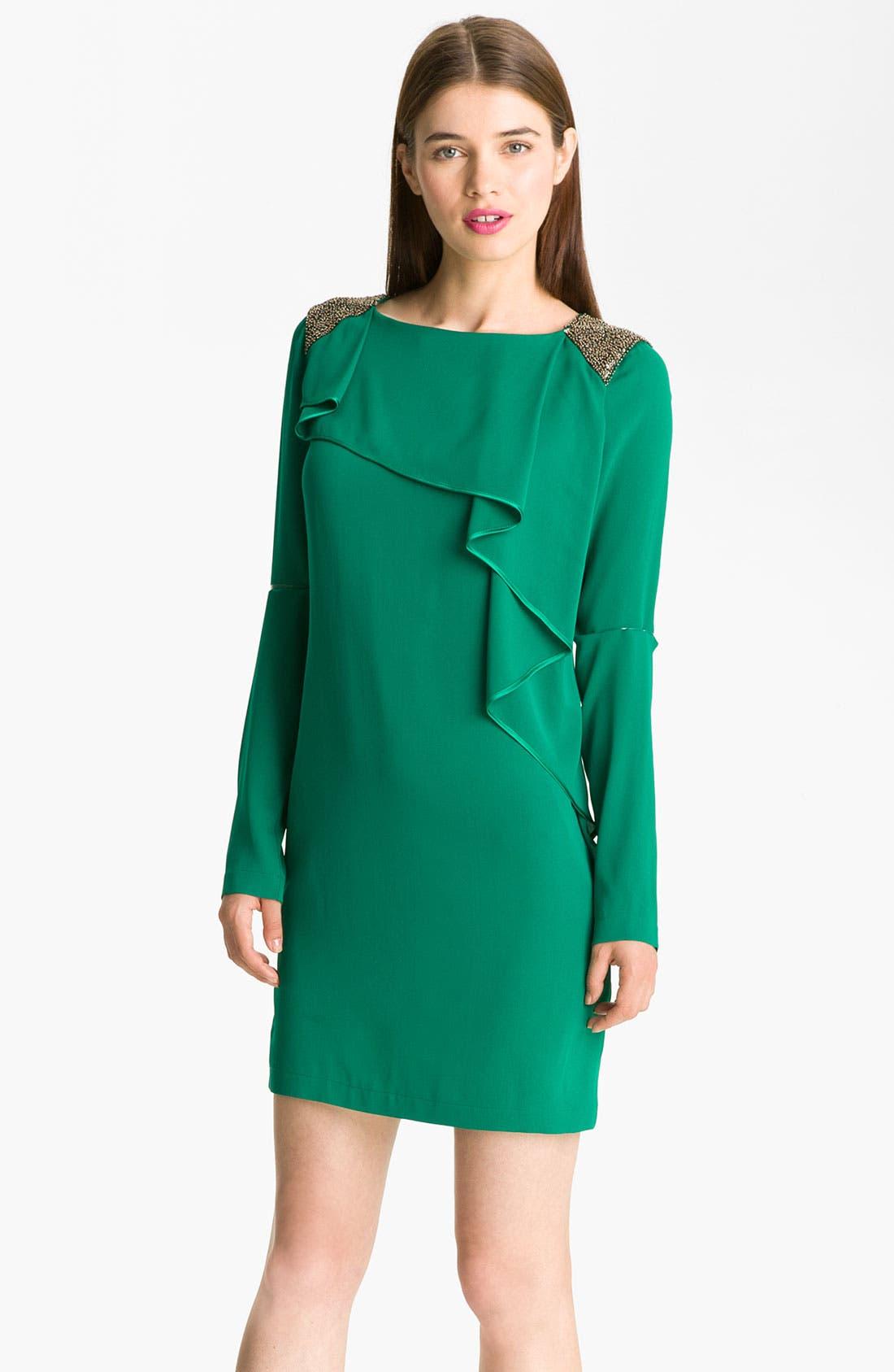 Alternate Image 1 Selected - Robert Rodriguez Embellished Cascade Ruffle Dress