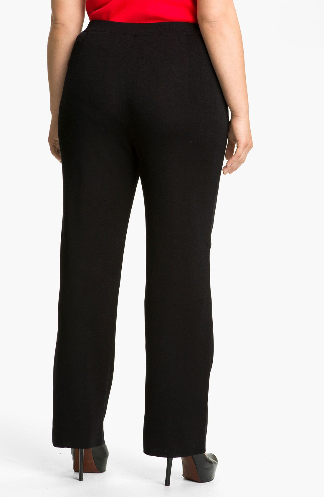 Alternate Image 2  - Misook Cigarette Pants (Plus Size)