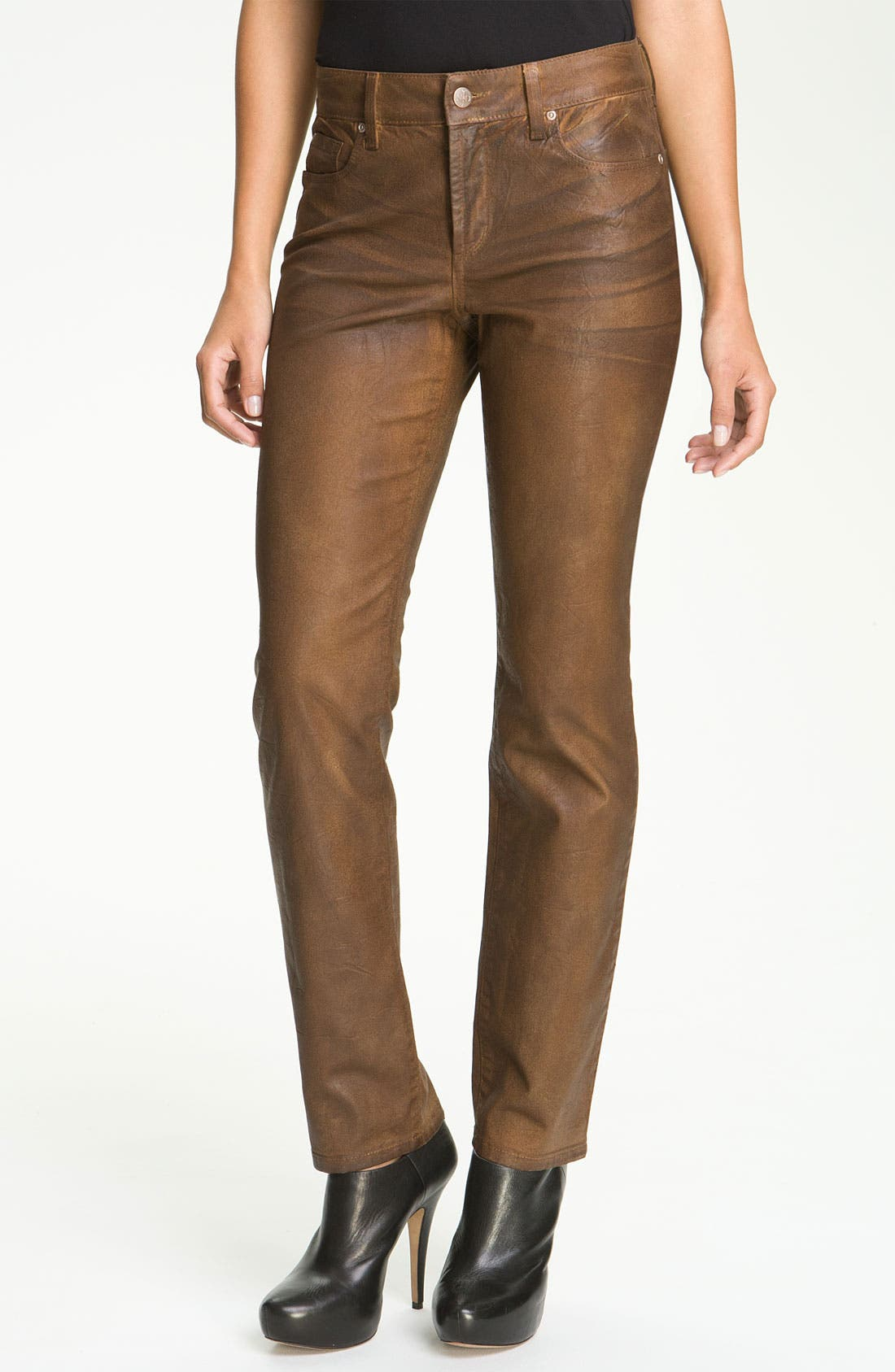 Alternate Image 1 Selected - NYDJ 'Sheri' Coated Skinny Jeans