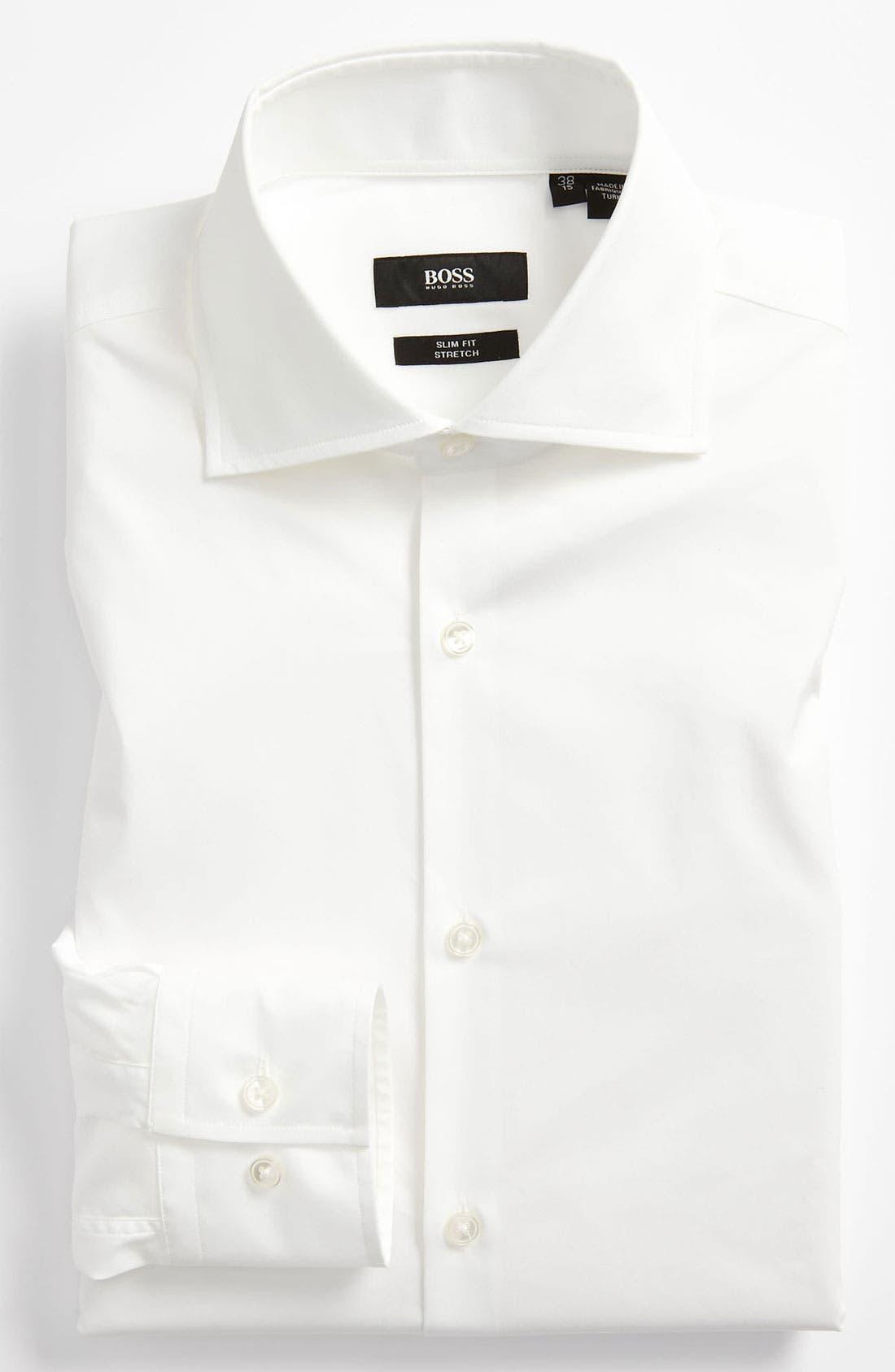 Alternate Image 1 Selected - BOSS 'Jaron' WW Slim Fit Dress Shirt