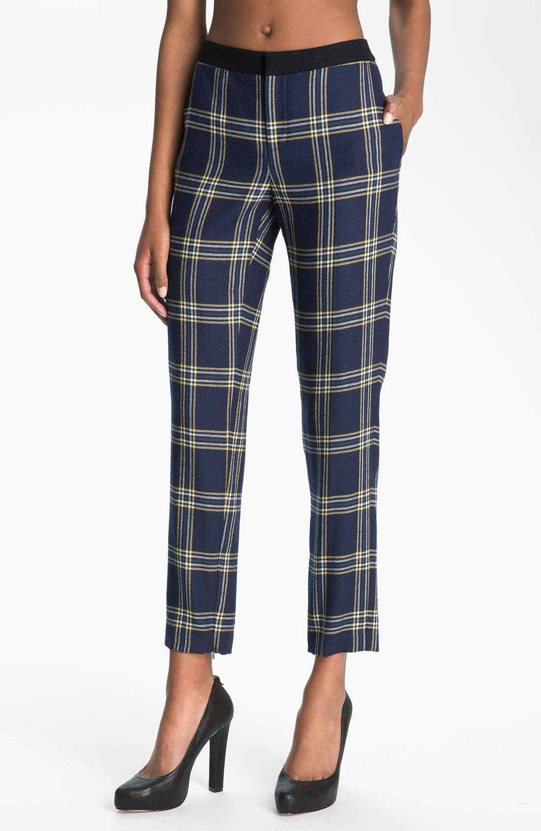 Alternate Image 1 Selected - Juicy Couture 'Eton' Plaid Crop Pants