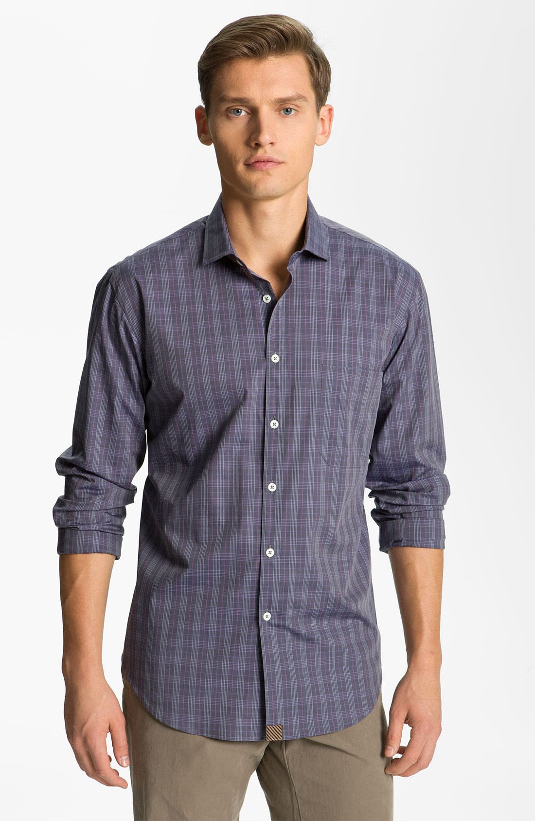 Main Image - Billy Reid Plaid Woven Shirt