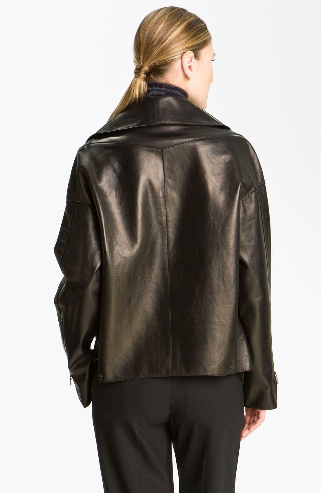 Alternate Image 2  - Vince Leather Moto Jacket