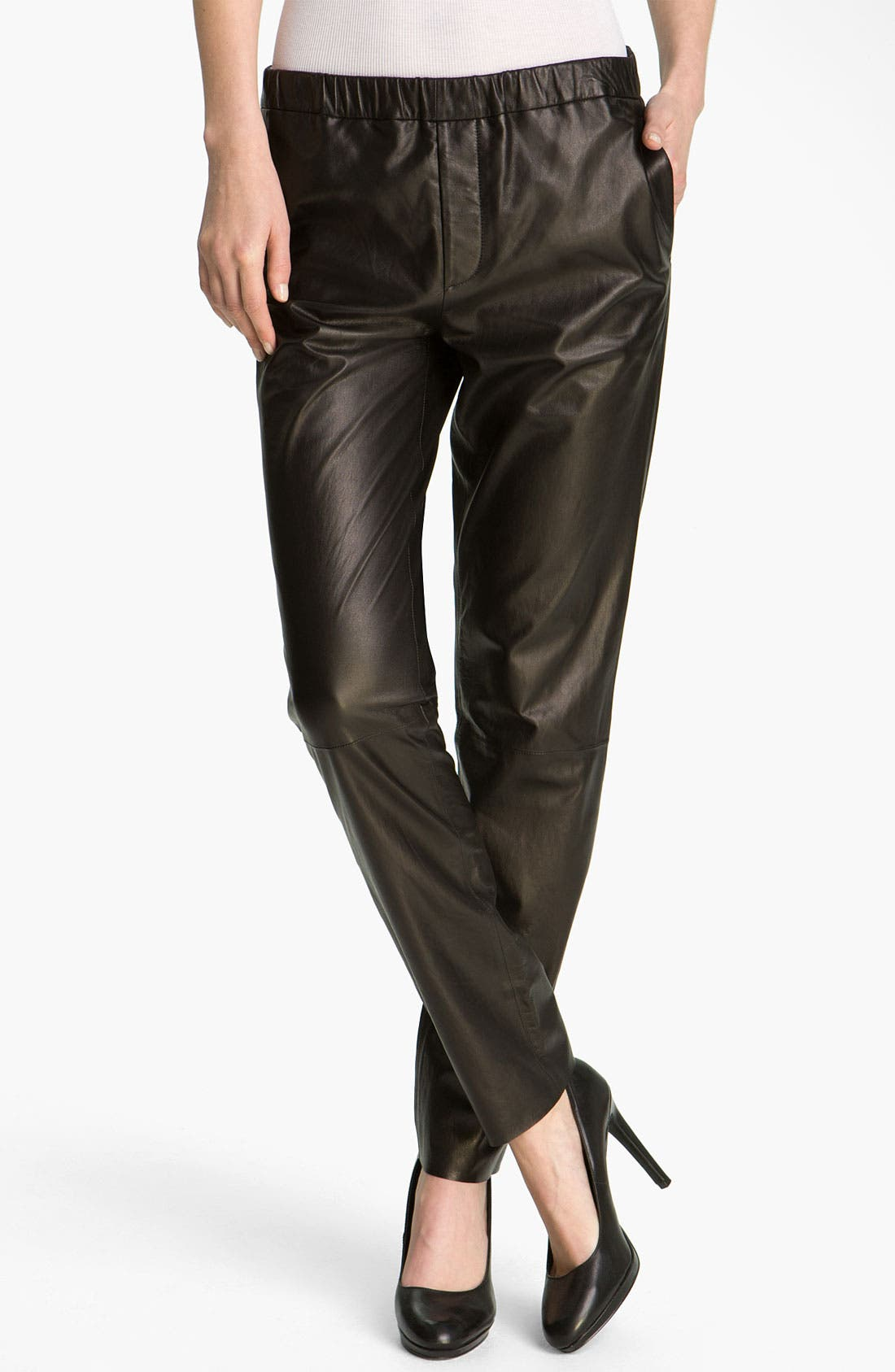 Alternate Image 1 Selected - Vince Relaxed Fit Leather Pants