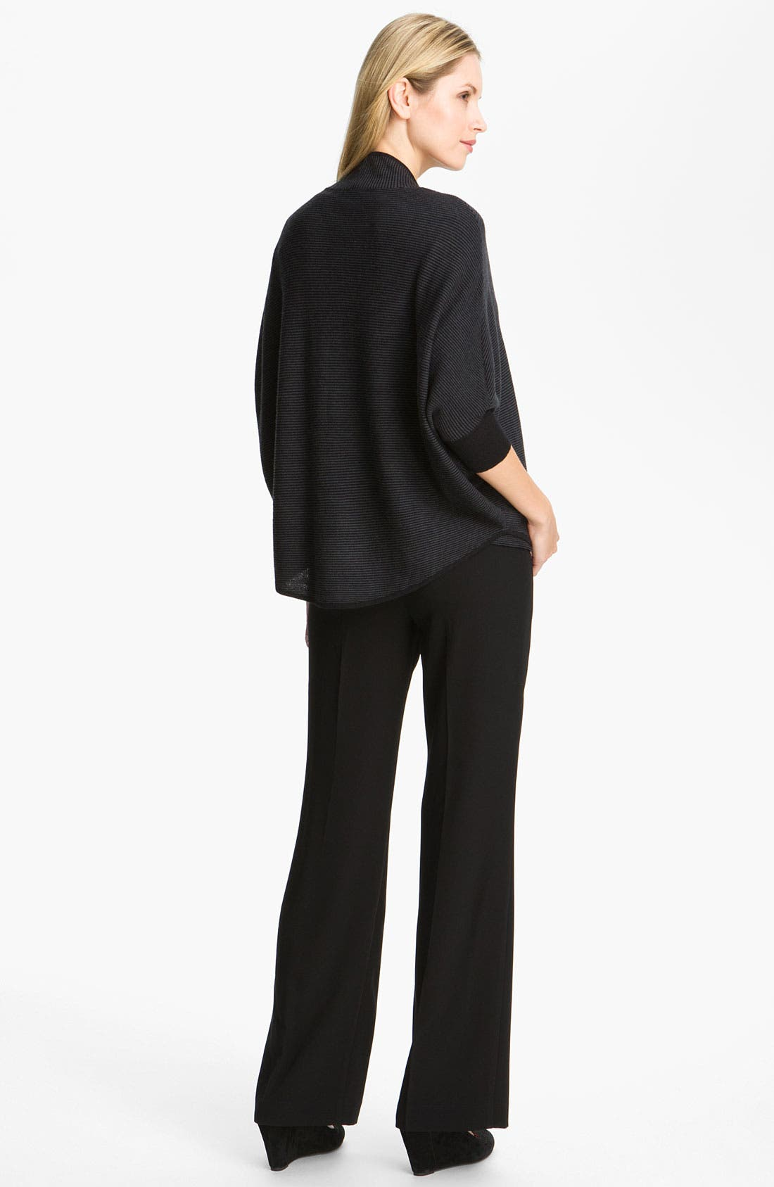 Alternate Image 4  - Eileen Fisher Stripe Wool Crepe Top