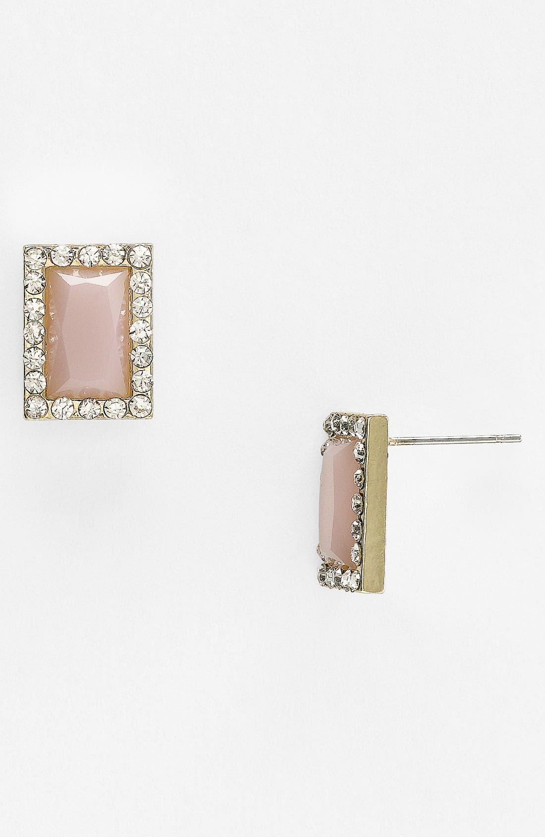 Main Image - Carole Rhinestone Frame Stud Earrings