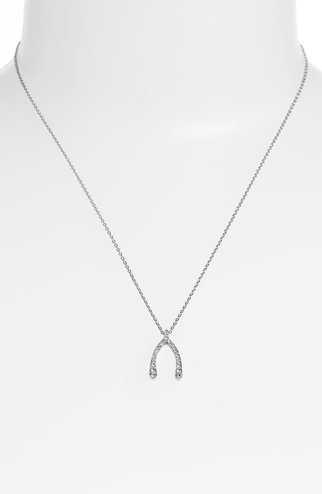 Alternate Image 2  - Nadri 'Wishbone' Pendant Necklace (Nordstrom Exclusive)