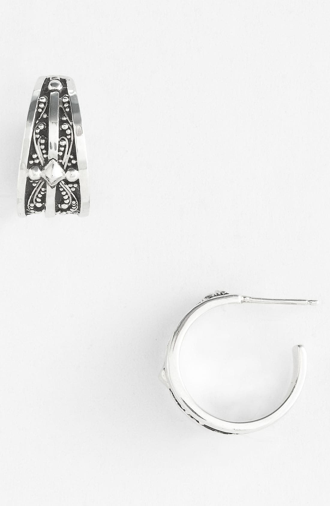 Alternate Image 1 Selected - Lois Hill 'Haveli' Cross Detail Hoop Earrings