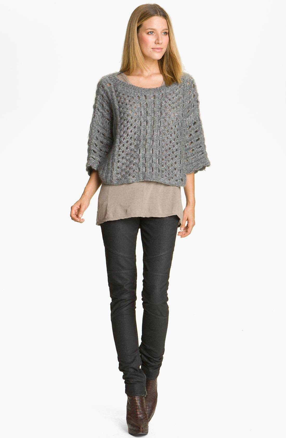 Alternate Image 1 Selected - Skaist-Taylor Open Crochet Pullover