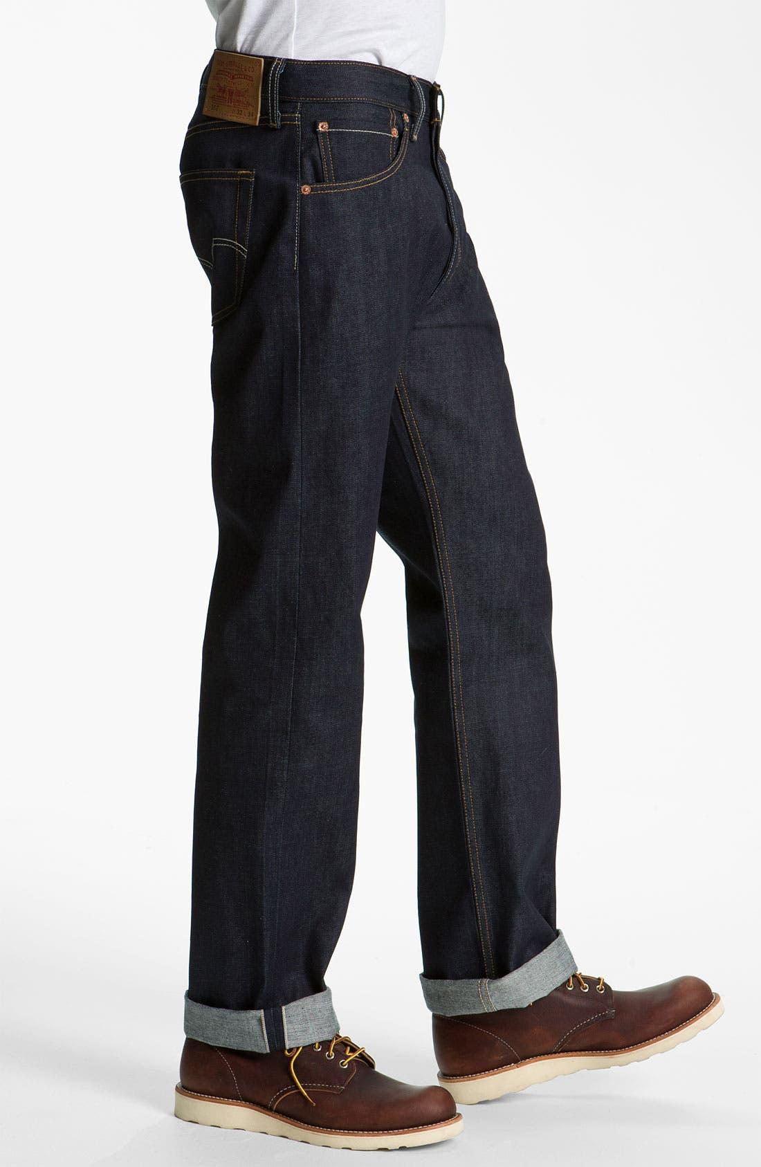 Alternate Image 3  - Levi's '501®' Straight Leg Jeans (Rigid Selvedge)