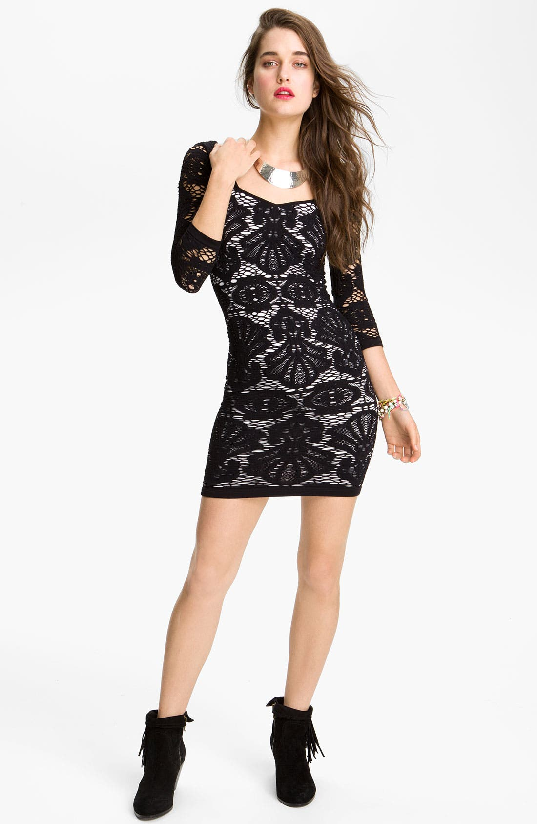 Alternate Image 1 Selected - Free People Stretch Lace Body-Con Dress