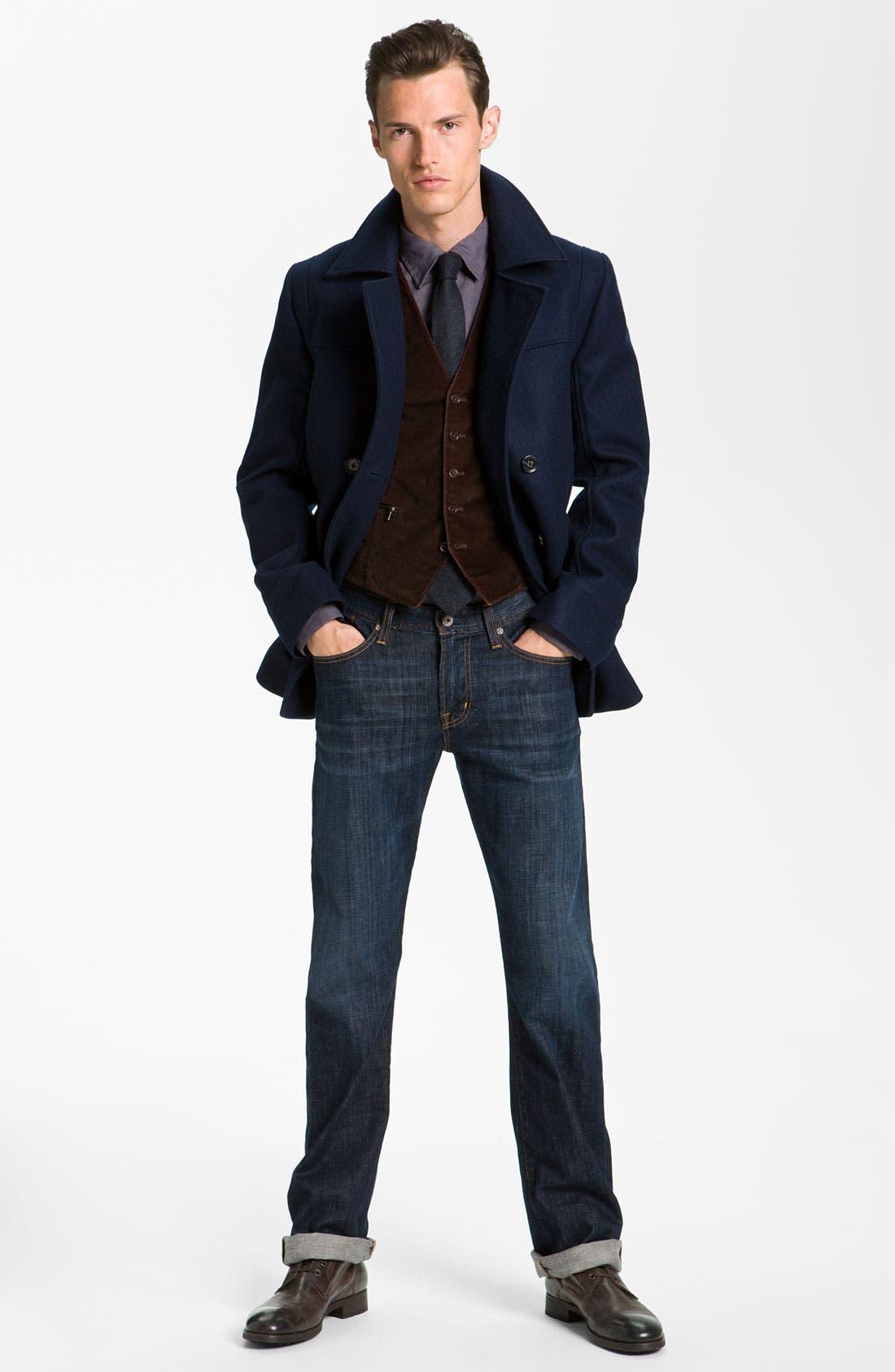 Alternate Image 3  - Gitman Woven Wool Tie