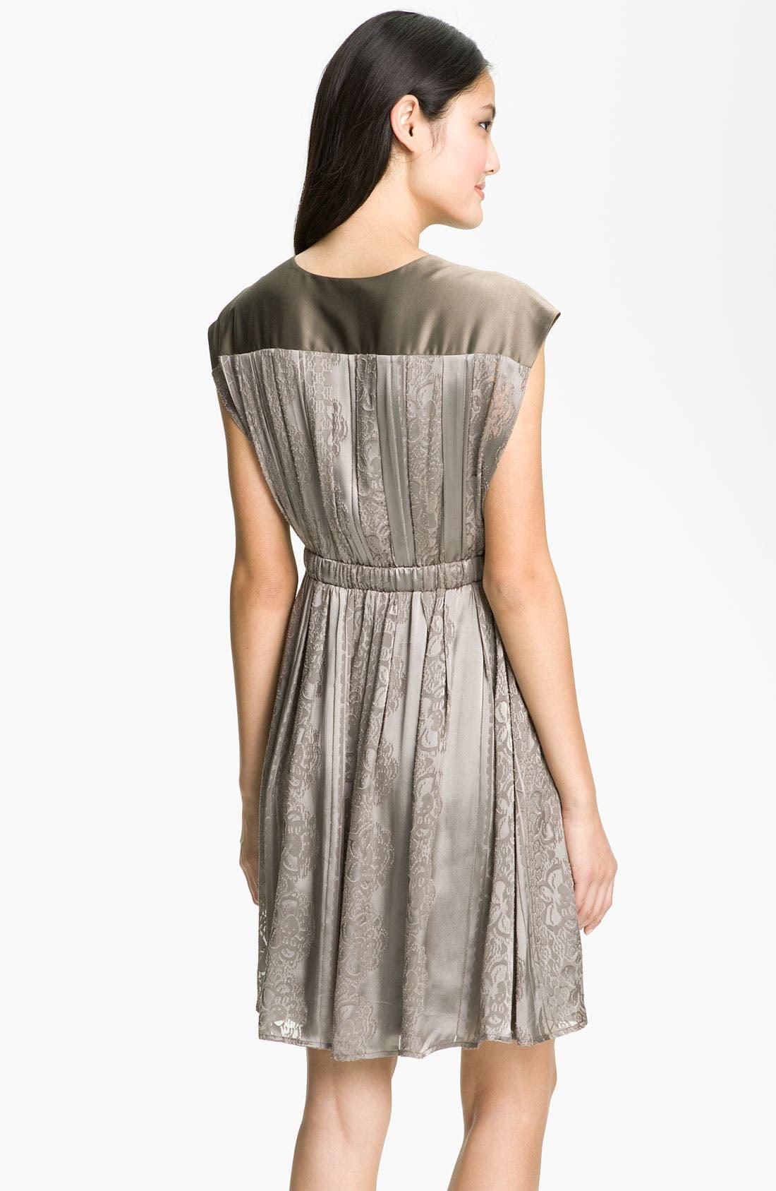 Alternate Image 2  - Jessica Simpson V-Neck Burnout Satin Dress