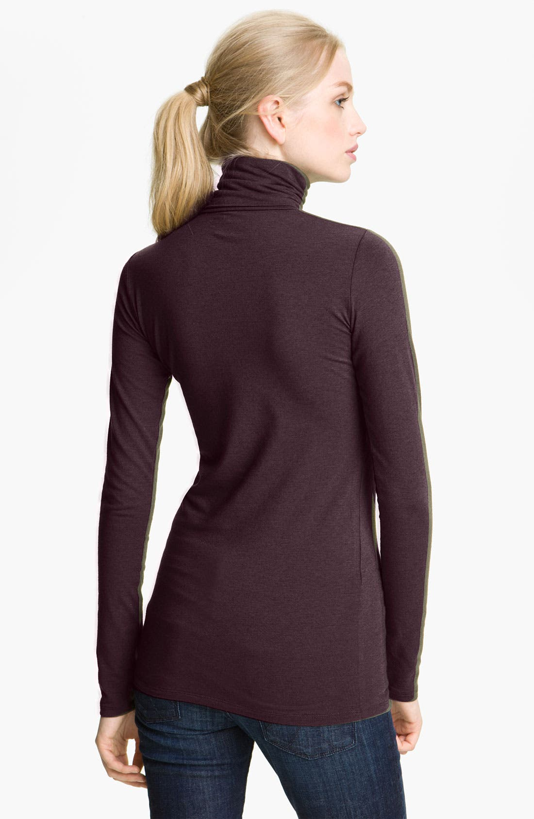 Alternate Image 2  - Majestic Cotton & Cashmere Turtleneck