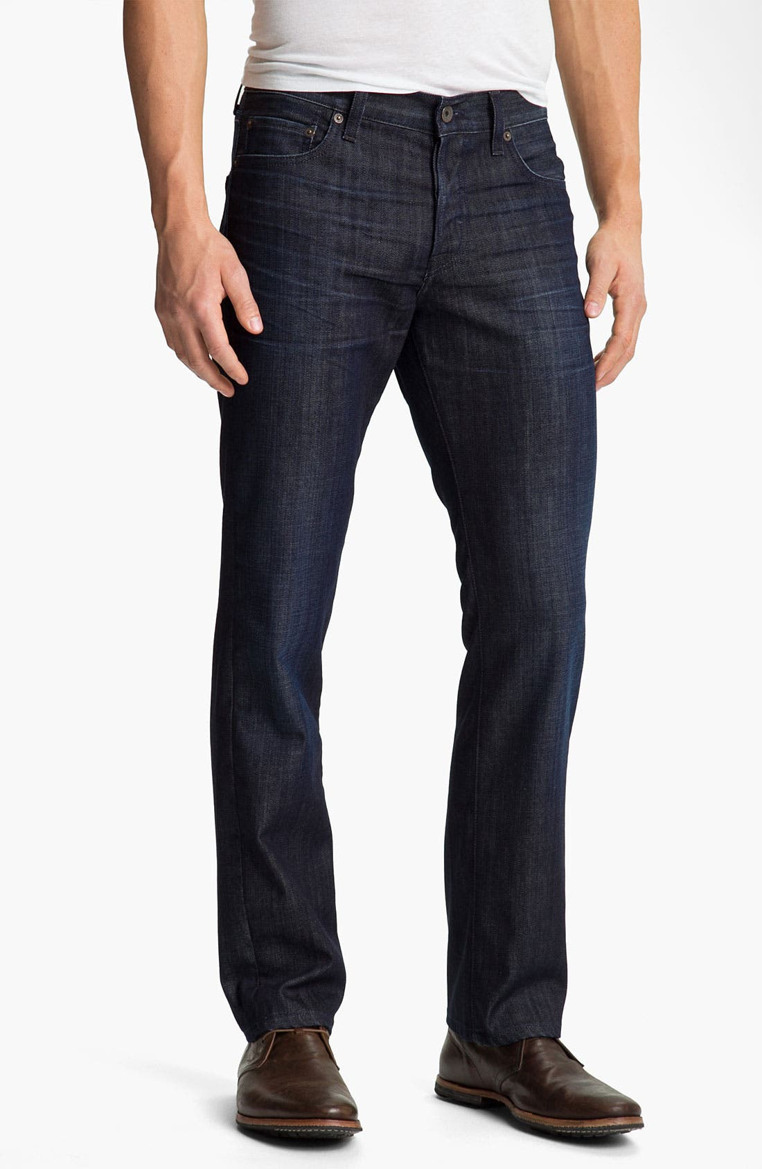 Main Image - Lucky Brand '221 Original' Straight Leg Jeans (Dark Hickory)