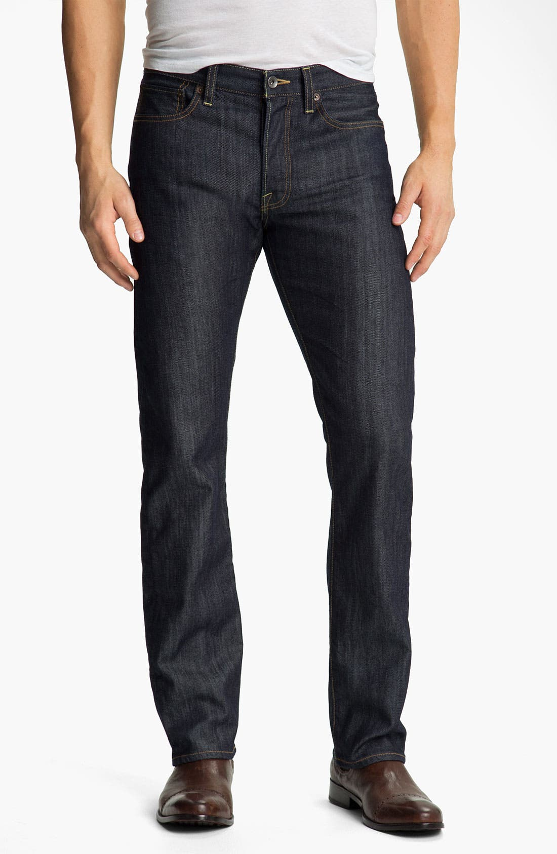 Alternate Image 1 Selected - Lucky Brand '123 Heritage' Slim Straight Leg Jeans (Kino)
