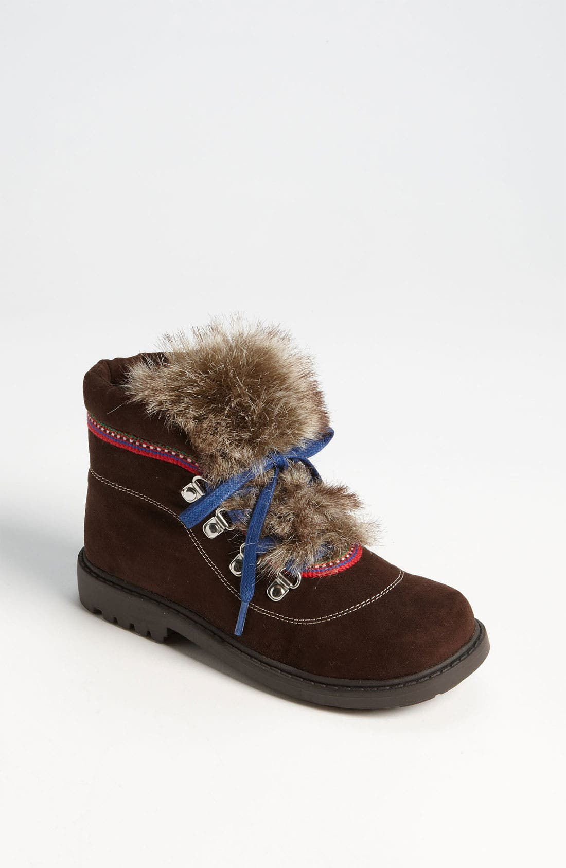 Main Image - Stuart Weitzman 'Doodle' Faux Fur Trim Boot (Walker, Toddler, Little Kid & Big Kid)