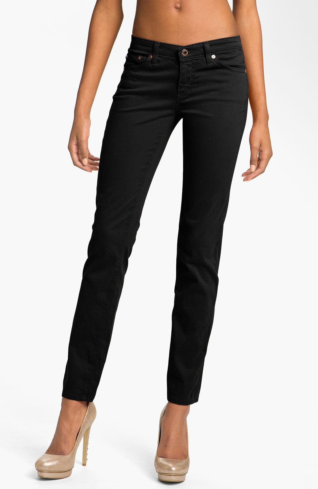 Alternate Image 1 Selected - AG Jeans 'Stilt' Skinny Ankle Jeans (Super Black Wash)