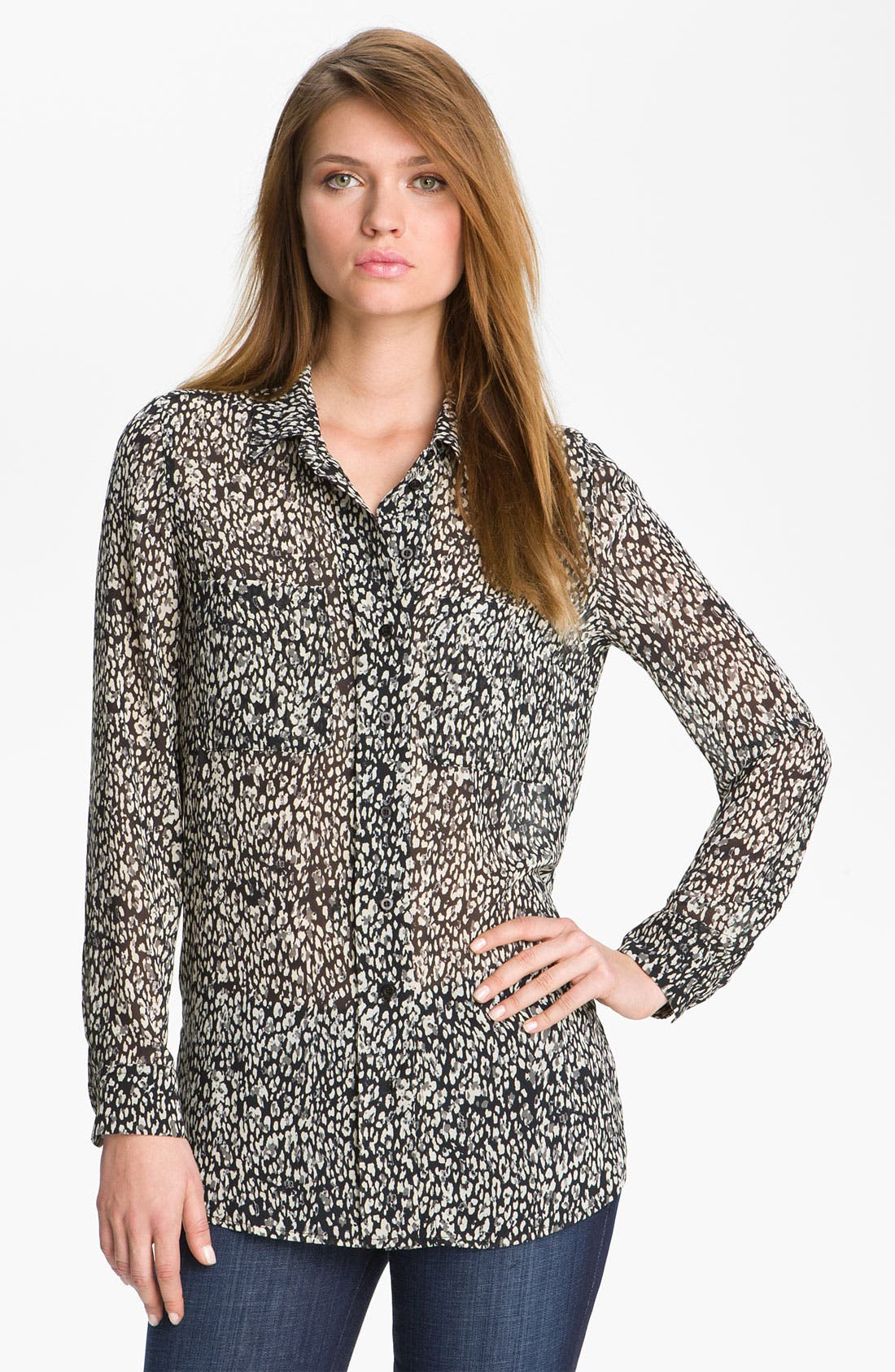 Alternate Image 1 Selected - Mcginn Leopard Print Blouse