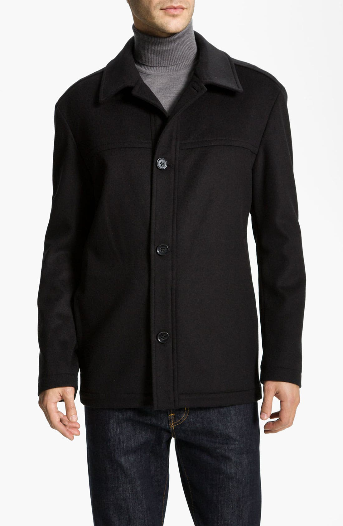 Main Image - BOSS Black 'Chester' Regular Fit Wool Blend Coat