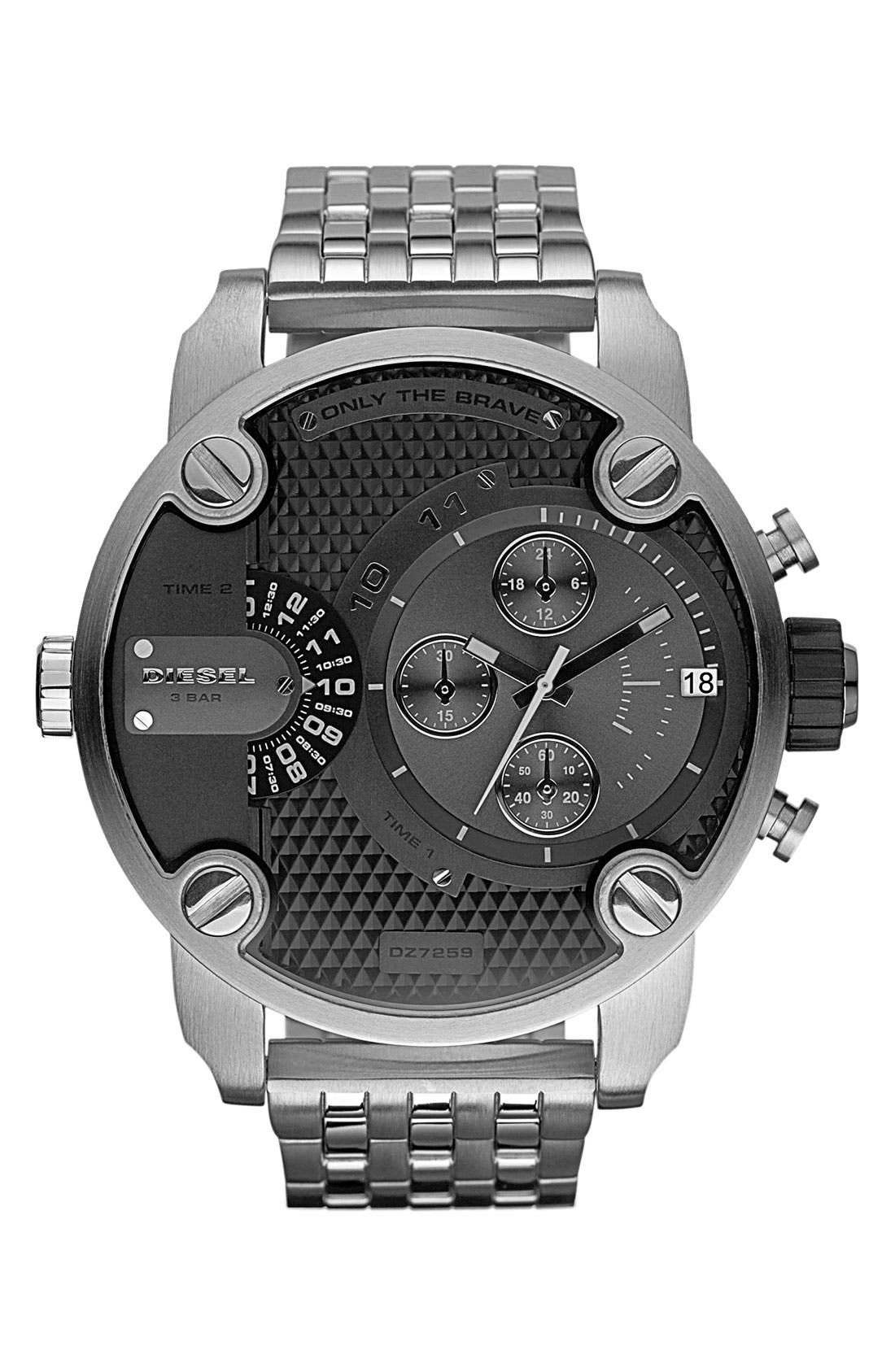 Main Image - DIESEL® 'Little Daddy' Chronograph Bracelet Watch, 51mm
