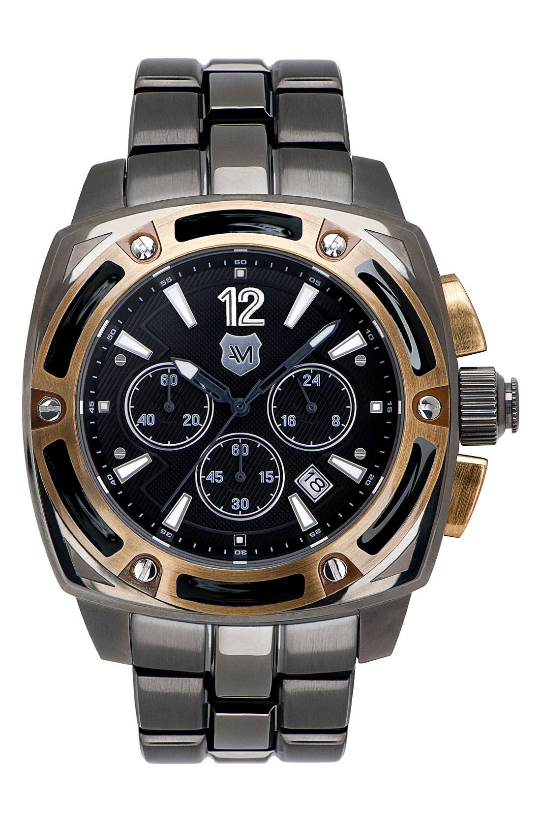 Alternate Image 1 Selected - Andrew Marc Watches 'G-III Bomber' Chronograph Bracelet Watch, 46mm