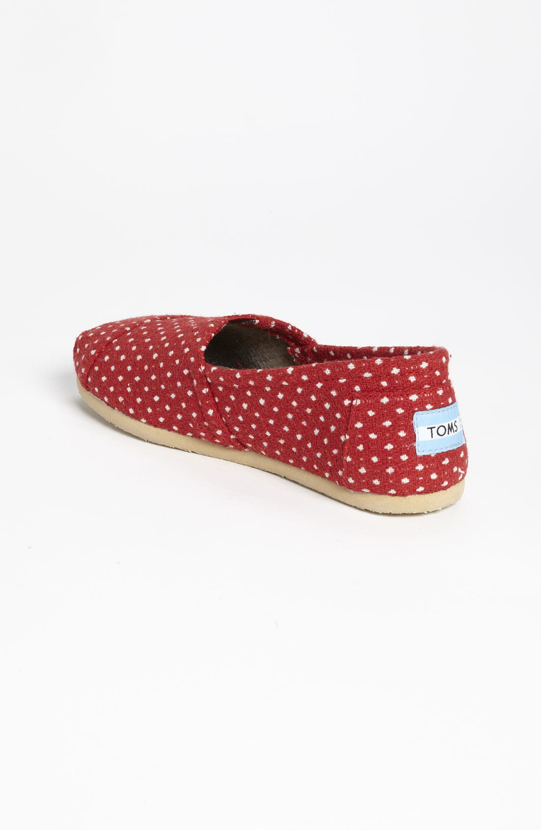 Alternate Image 2  - TOMS 'Classic - Dot' Woolen Slip-On (Women)