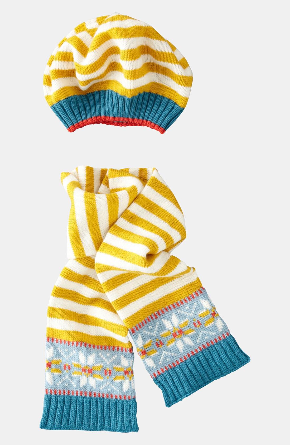 Alternate Image 1 Selected - Mini Boden Hat & Scarf (Little Girls & Big Girls)