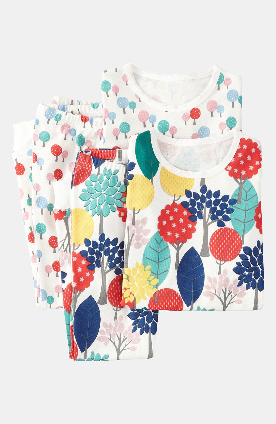 Main Image - Mini Boden Fitted Pajamas (2-Pack) (Little Girls & Big Girls)