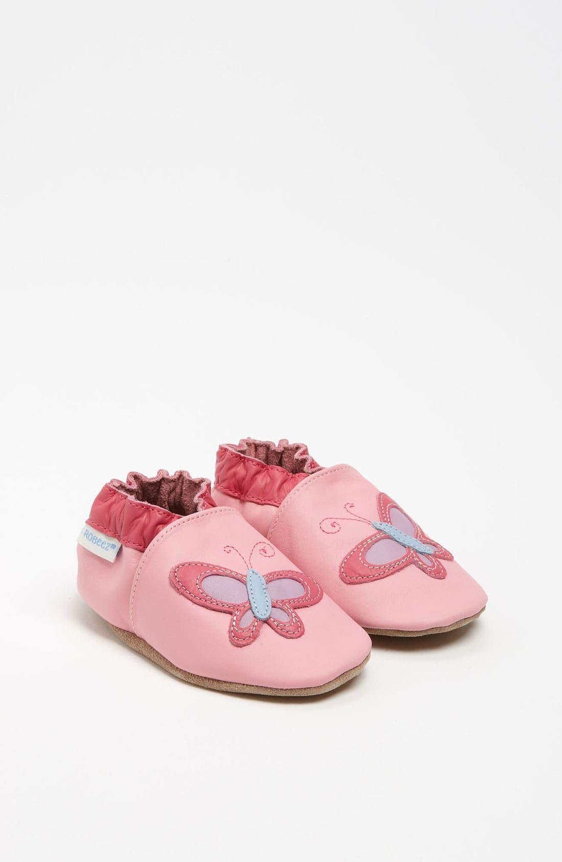 Alternate Image 1 Selected - Robeez® 'Butterfly' Slip-On (Baby & Walker)