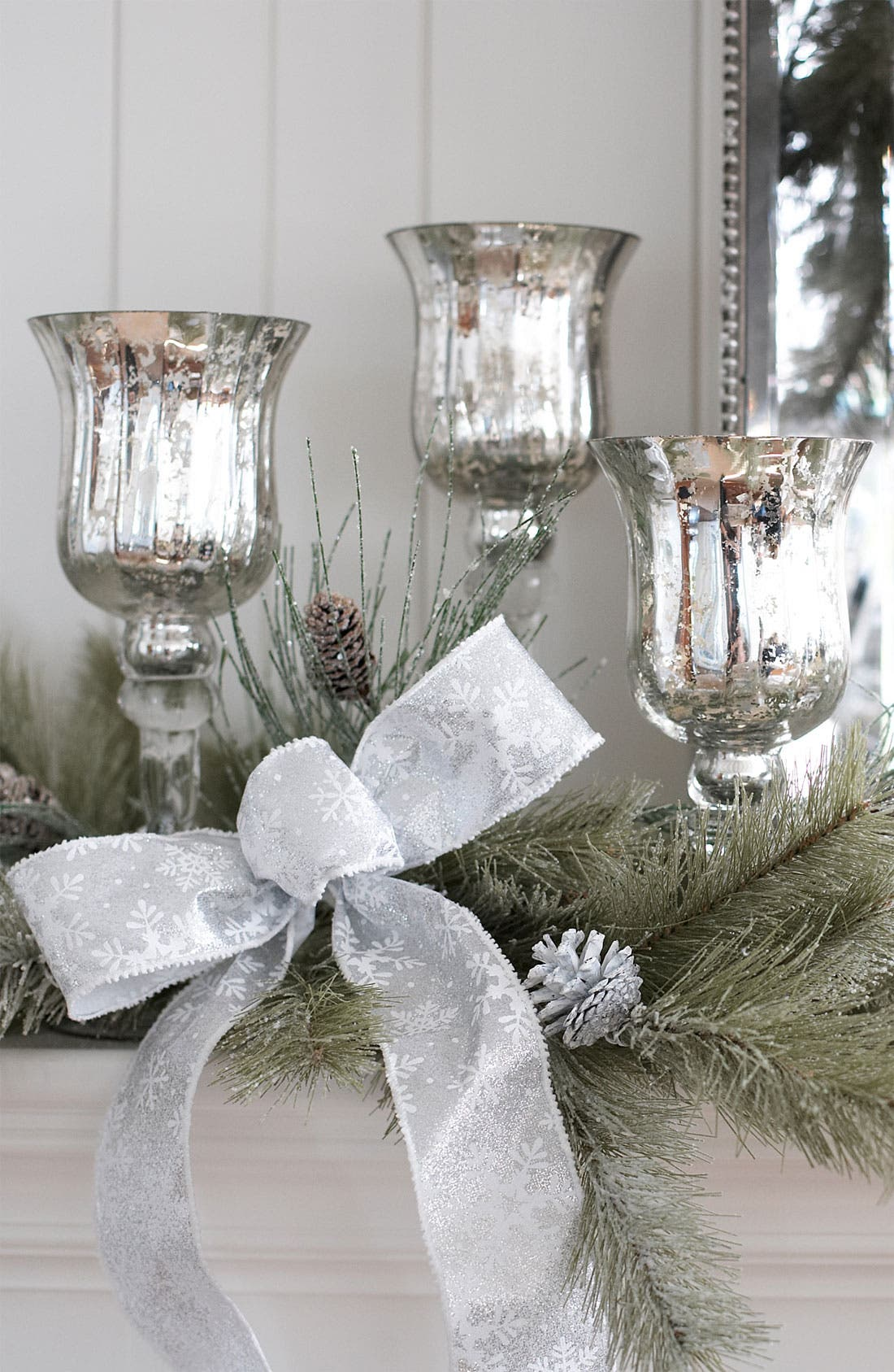 Alternate Image 2  - Melrose Gifts Mercury Glass Candle Holder