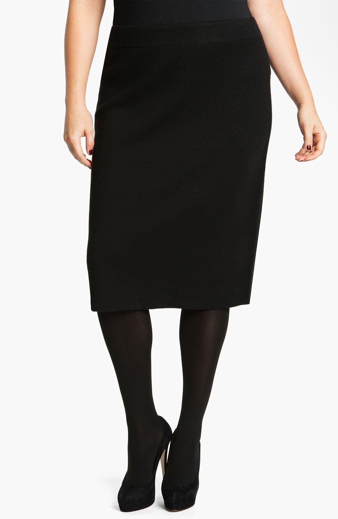 Sweater Skirt,                         Main,                         color, Black