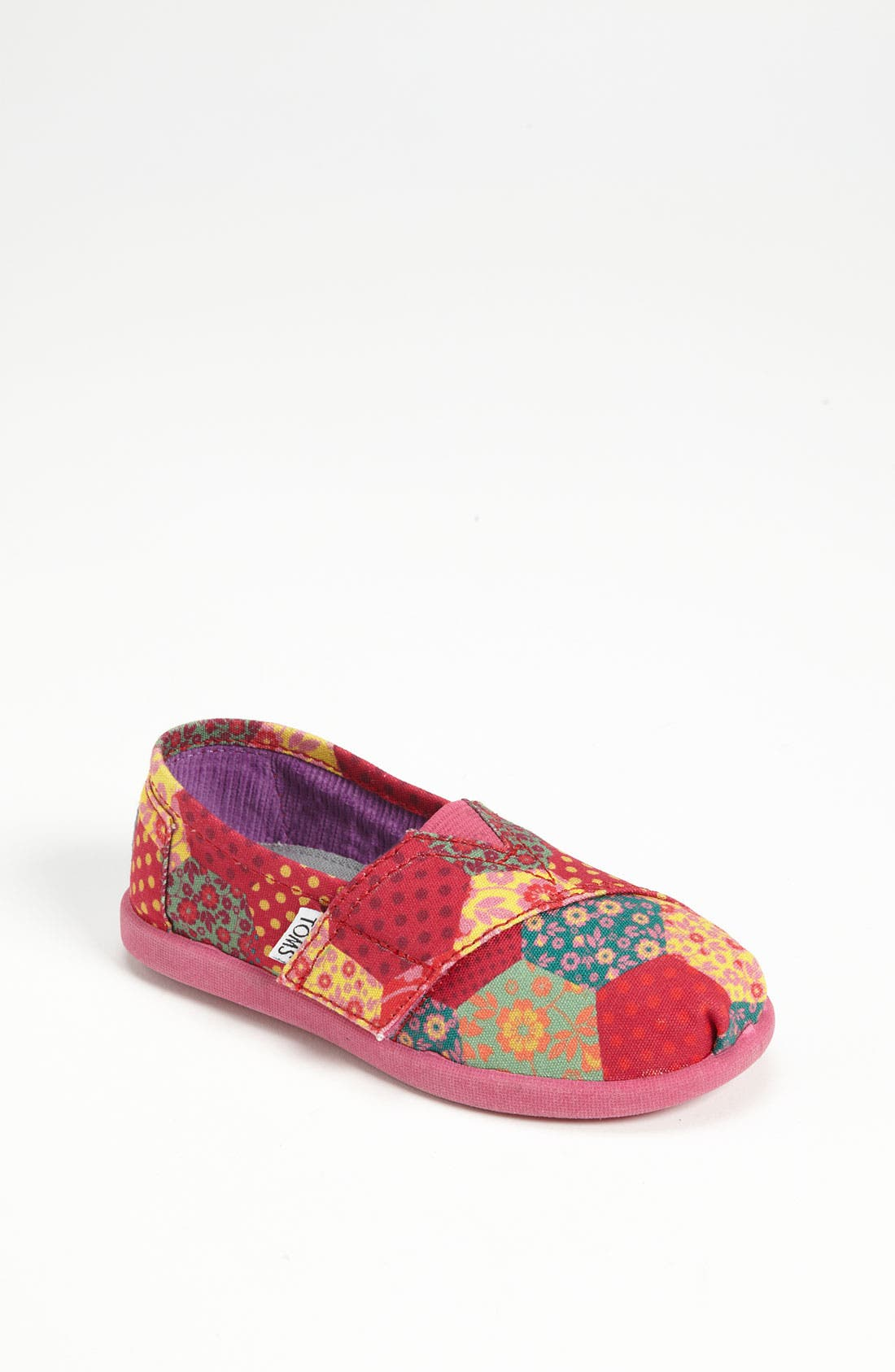 Main Image - TOMS 'Classic Tiny - Patchwork' Slip-On (Baby, Walker & Toddler)