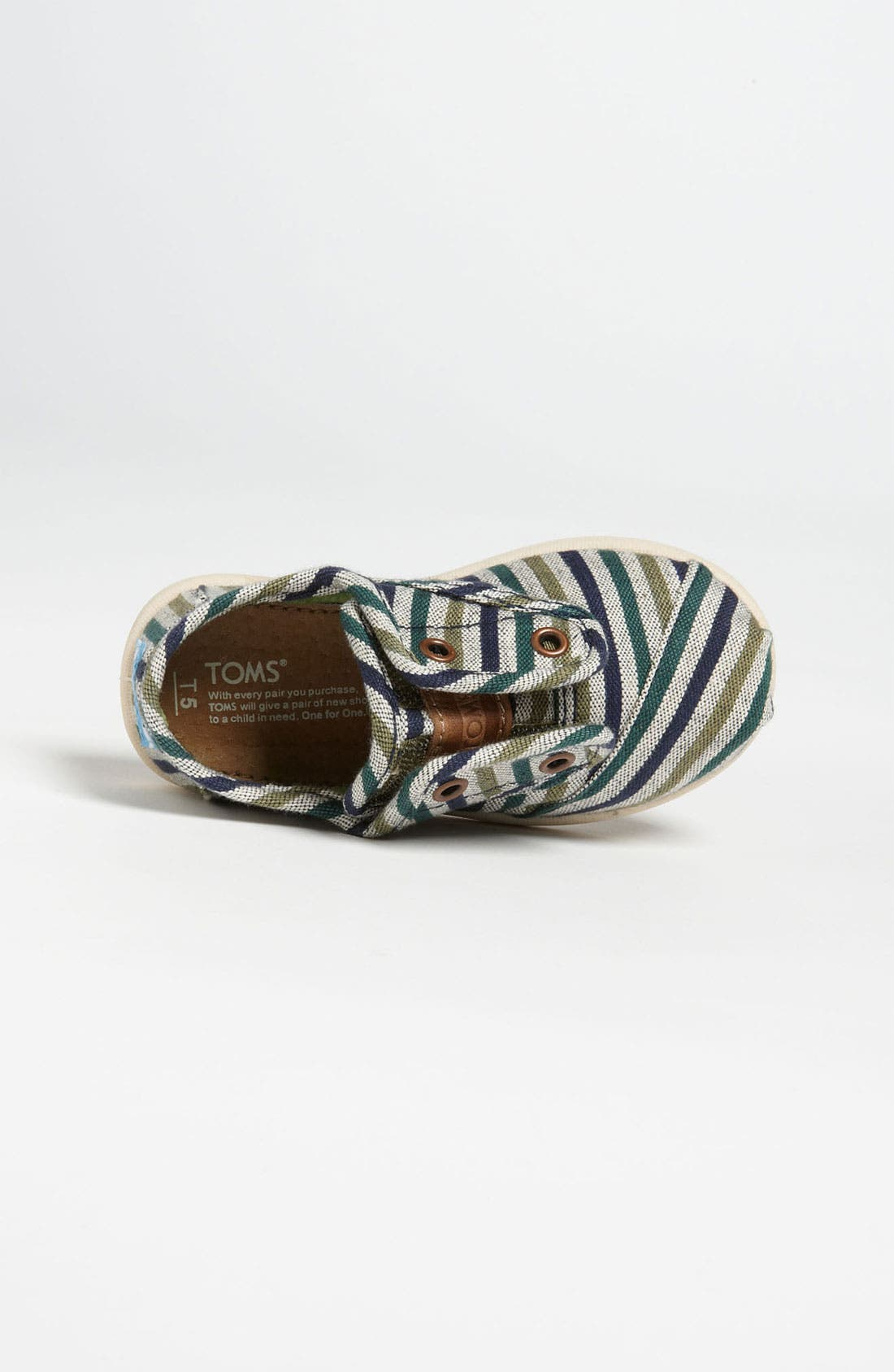 Alternate Image 3  - TOMS 'Cordones Tiny - Renato' Slip-On (Baby, Walker & Toddler)